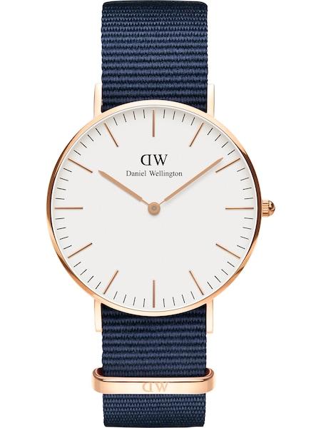 Uhren für Frauen - Daniel Wellington Uhr 'Classic 36 Bayswater DW00100279' taubenblau rosegold weiß  - Onlineshop ABOUT YOU