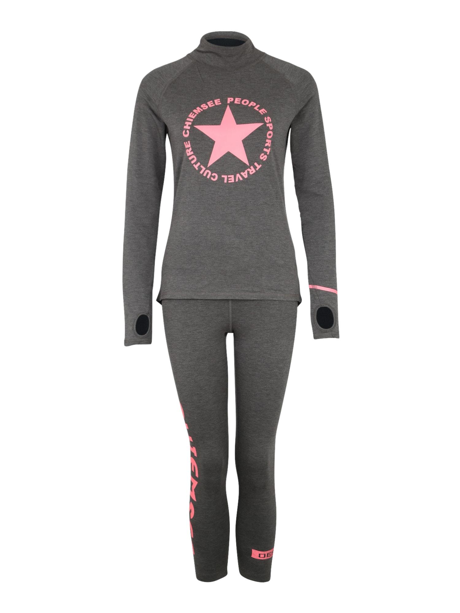 CHIEMSEE Sportiniai apatiniai marškinėliai pilka / rožinė