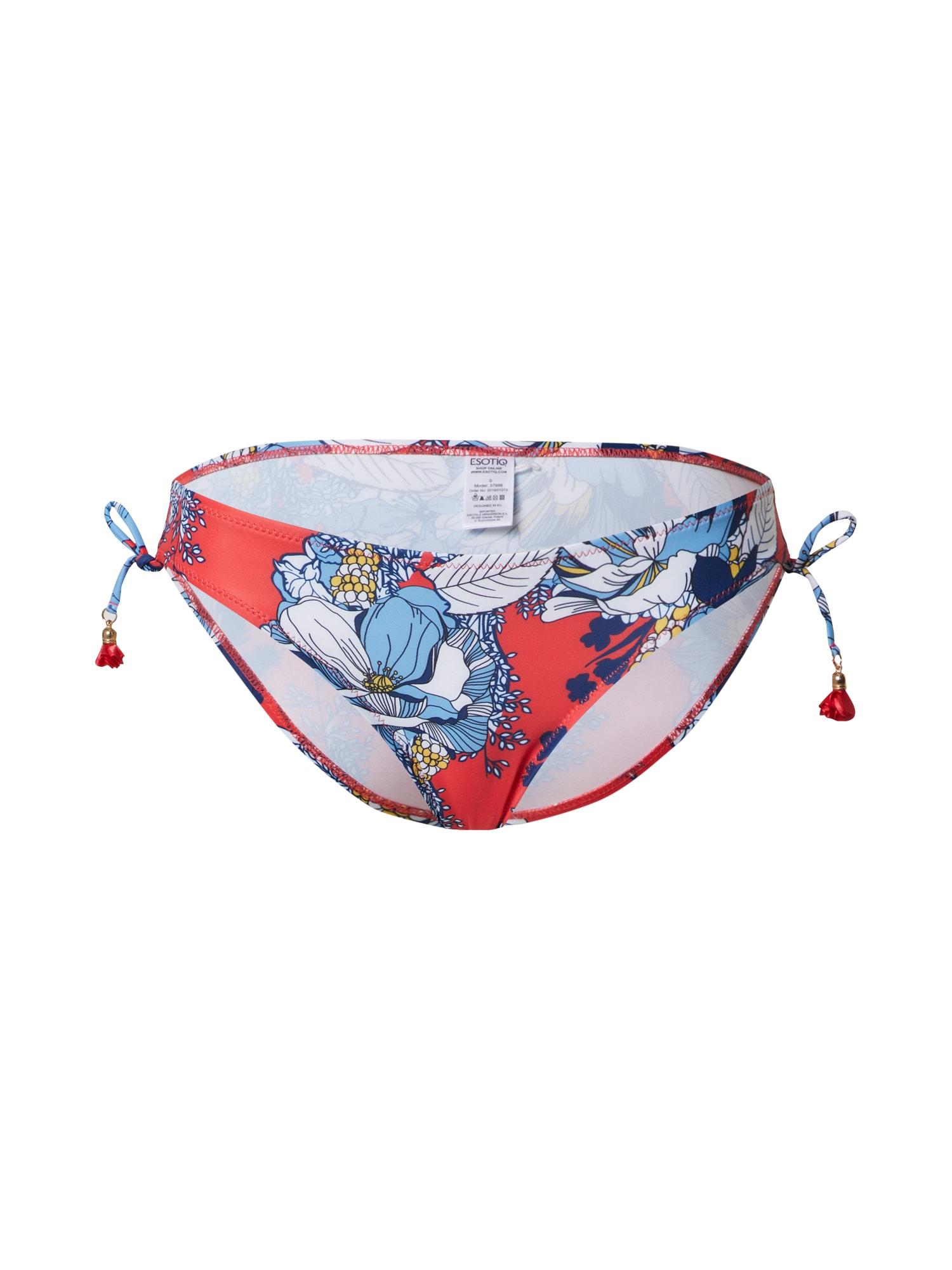 ESOTIQ Bikinové nohavičky 'MADEIRA'  červené / modré