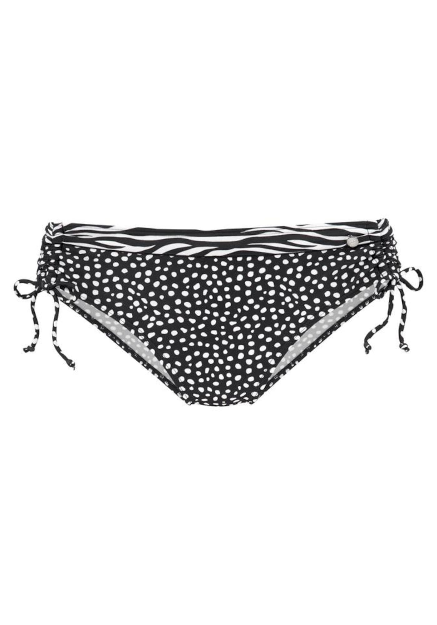 LASCANA Bikinio kelnaitės balta / juoda