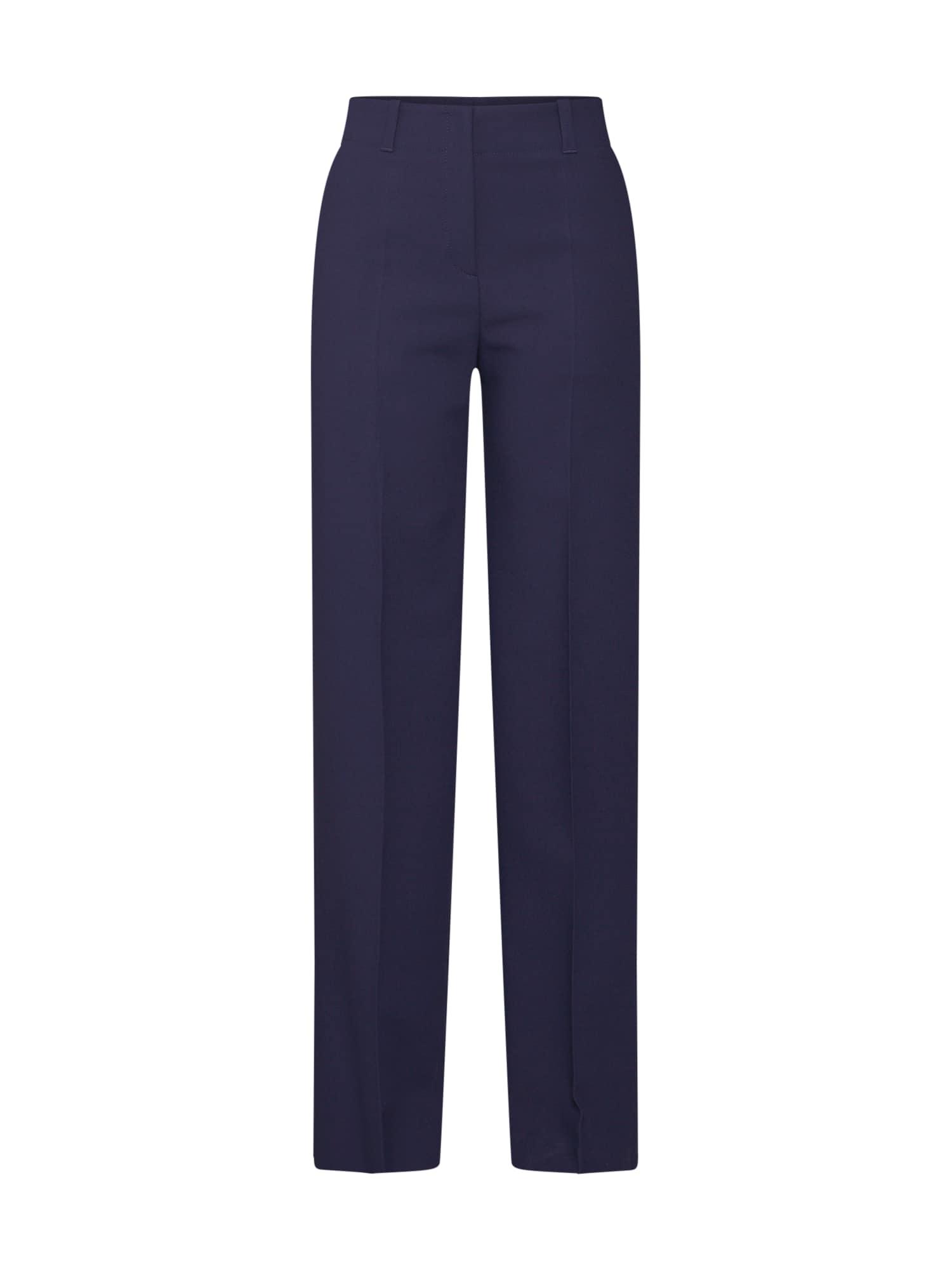 Kalhoty se sklady v pase Hulana námořnická modř HUGO
