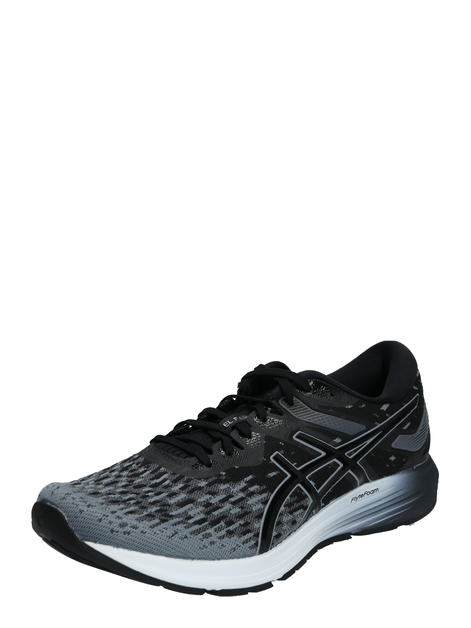 ASICS Bėgimo batai 'DYNAFLYTE 4' tamsiai pilka / juoda