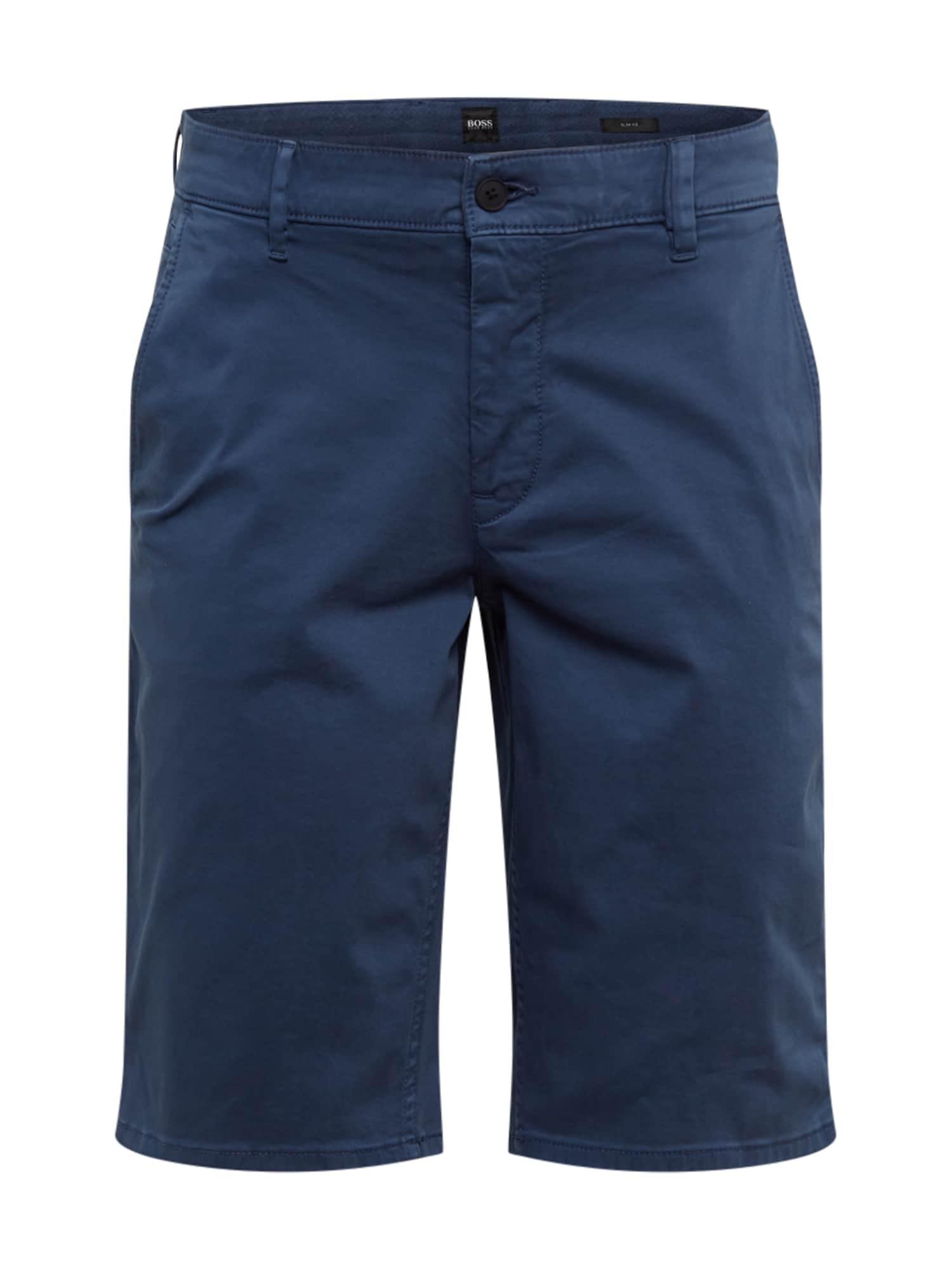 BOSS Chino stiliaus kelnės tamsiai mėlyna jūros spalva