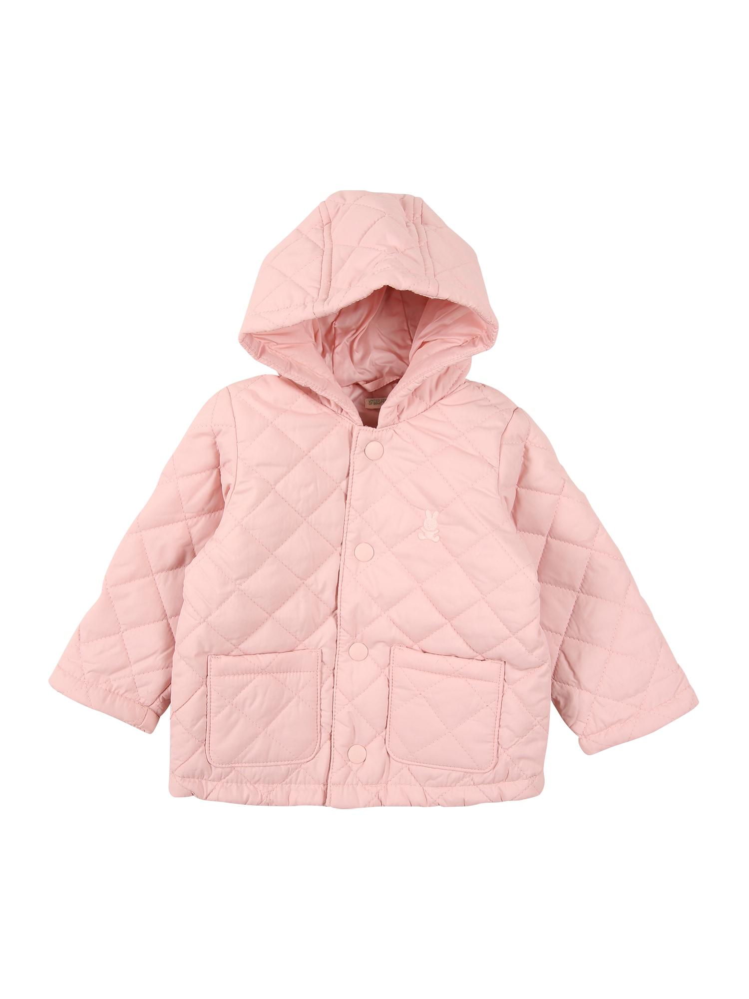 UNITED COLORS OF BENETTON Přechodná bunda  světle růžová