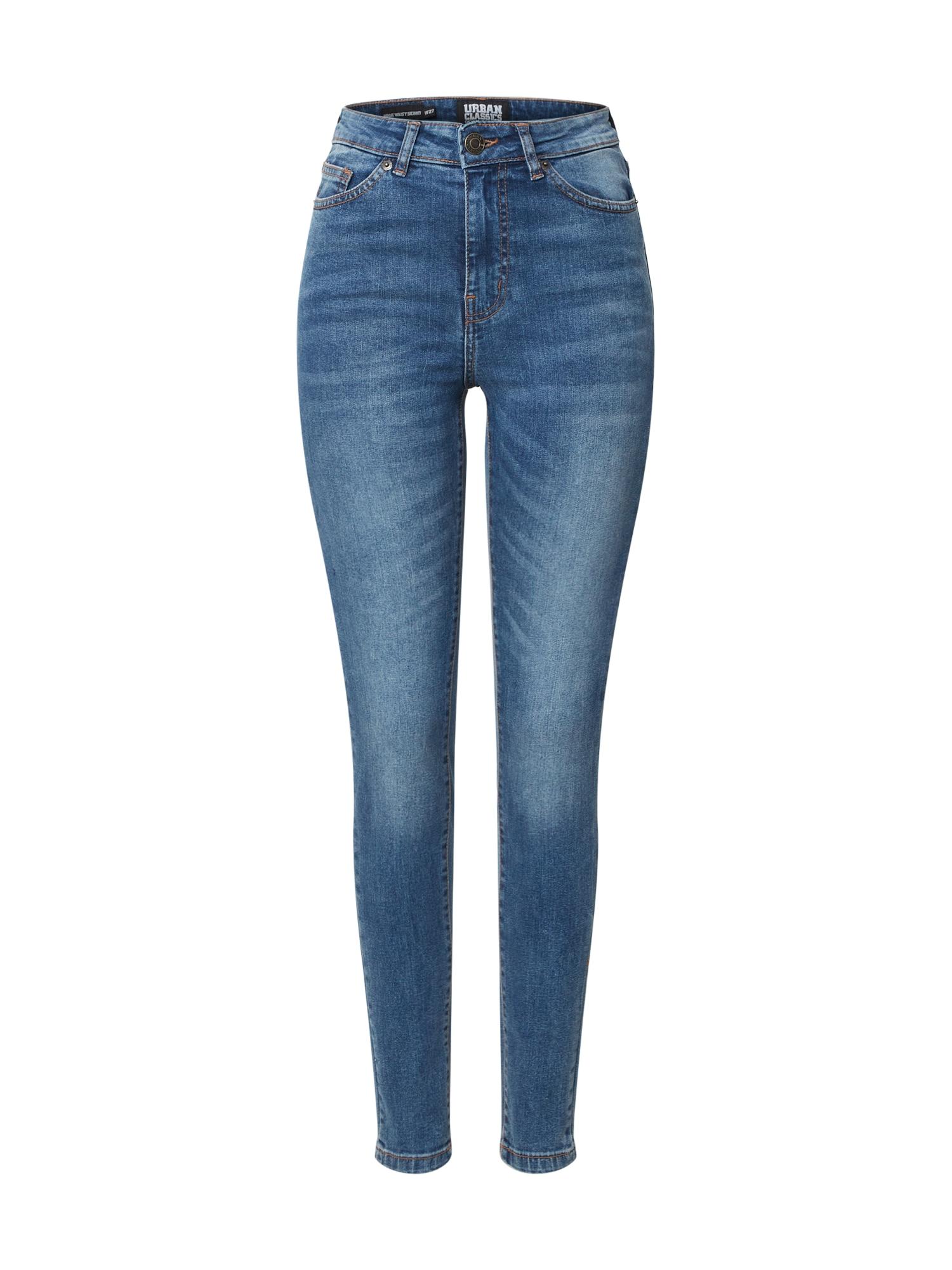Urban Classics Džínsy 'Ladies High Waist Skinny Jeans'  modrá denim