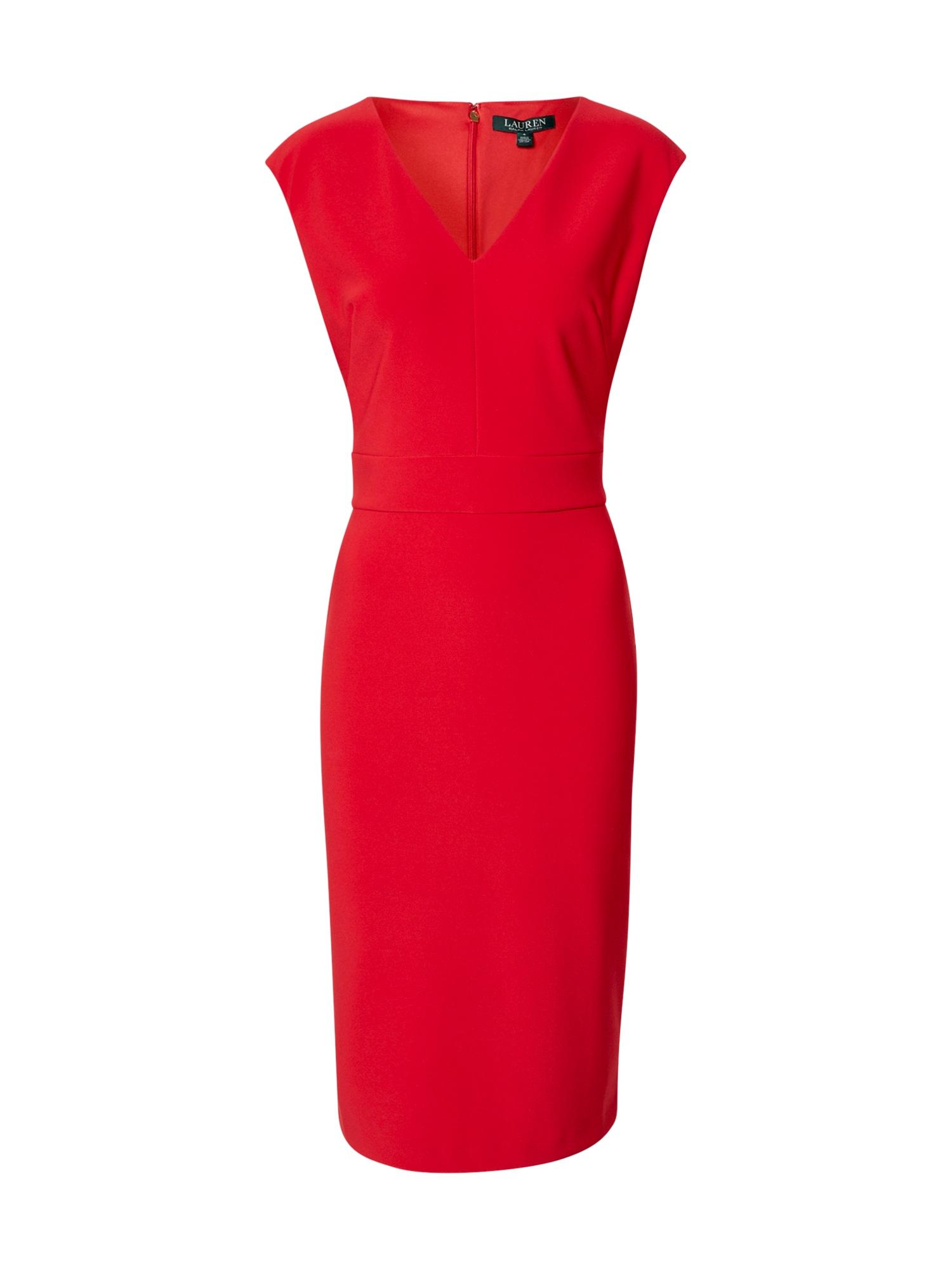 Lauren Ralph Lauren Trumpa kokteilinė suknelė 'JANNETTE' ugnies raudona
