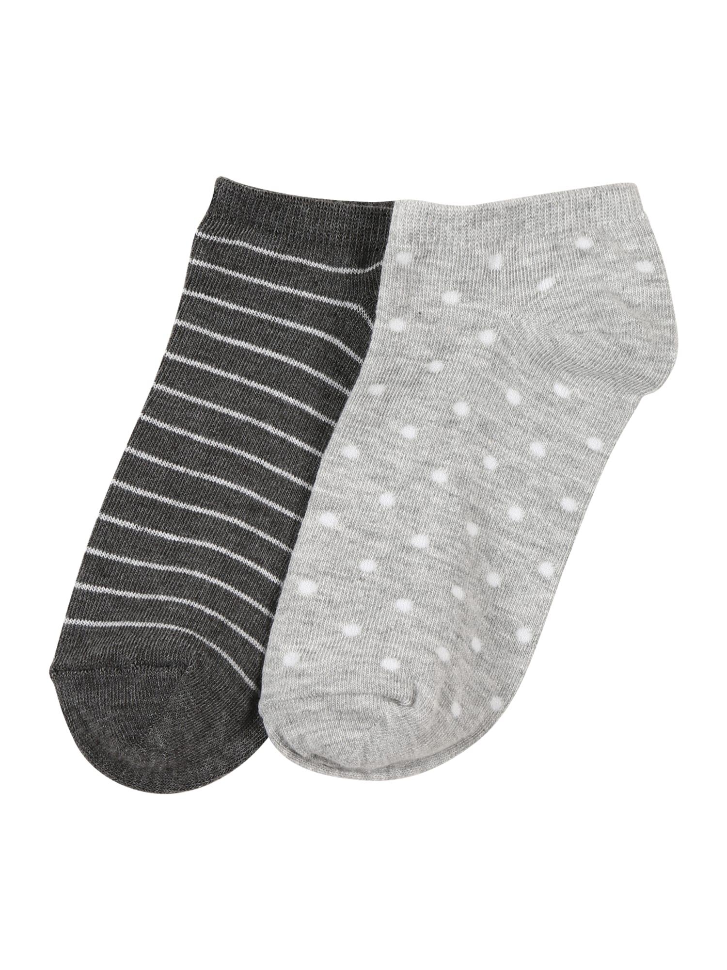 ABOUT YOU Kojinės pilka / balta / antracito
