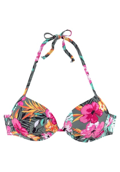 Bademode für Frauen - BUFFALO Push Up Bikini Top gelb grau pink  - Onlineshop ABOUT YOU