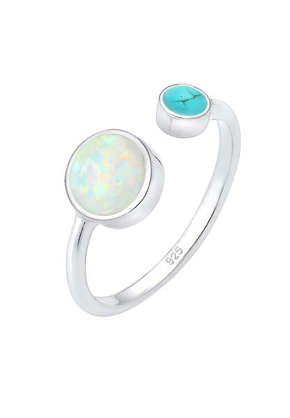 Ringe für Frauen - ELLI Ring 'Opal' neonblau silber  - Onlineshop ABOUT YOU