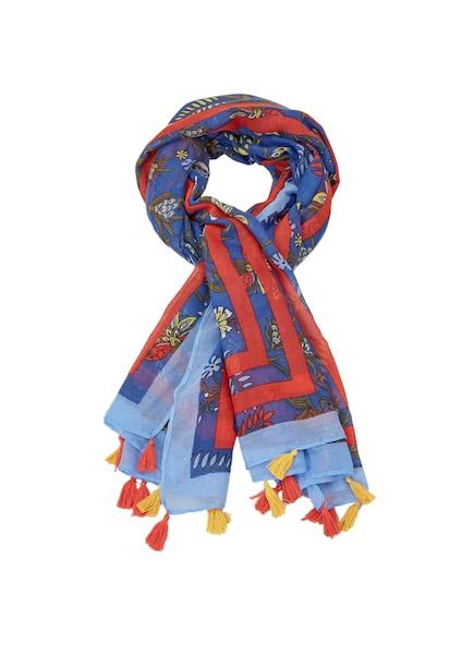 Schals für Frauen - S.Oliver RED LABEL Webschal blau rot  - Onlineshop ABOUT YOU