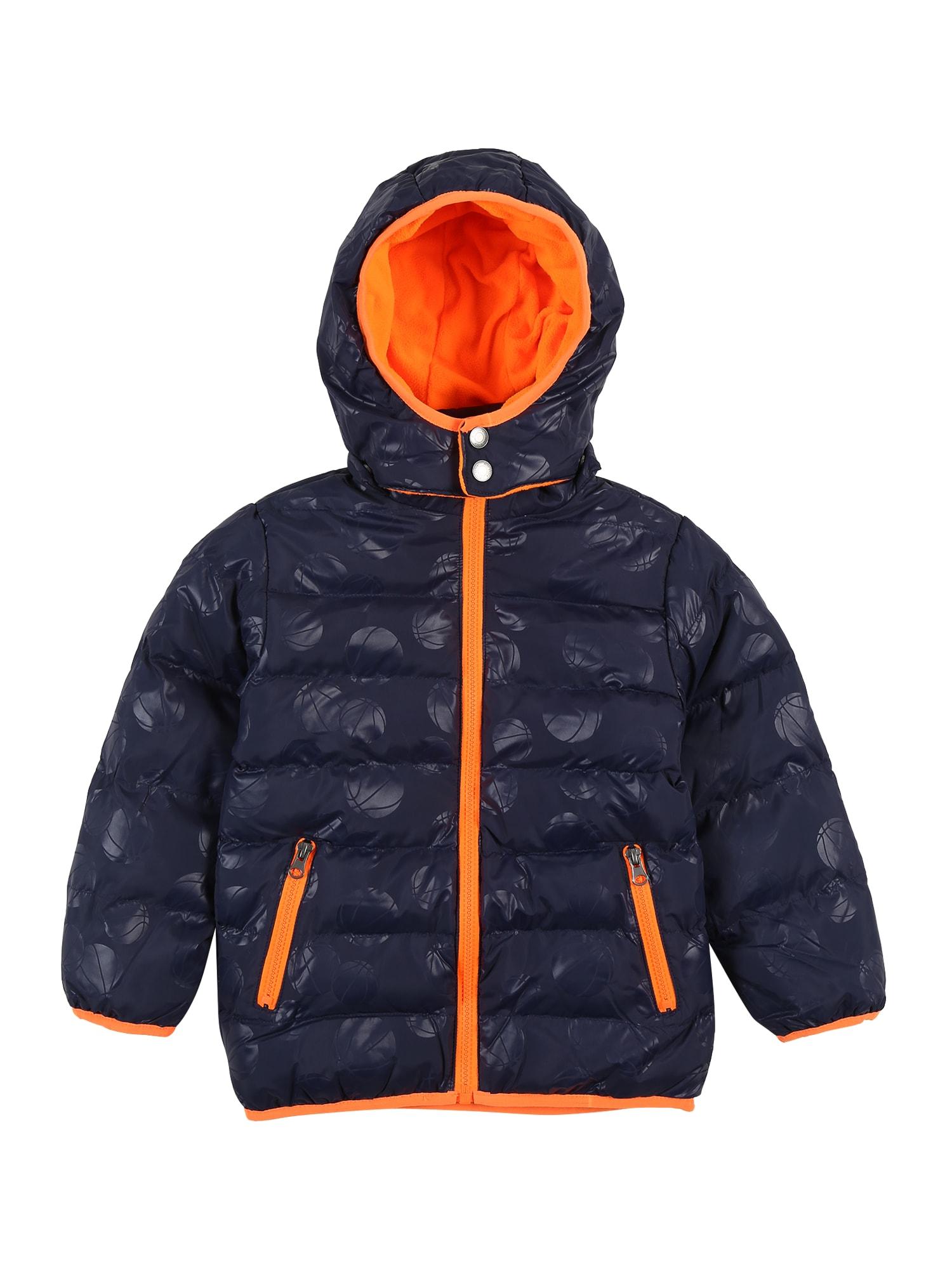BLUE SEVEN Přechodná bunda  noční modrá / oranžová
