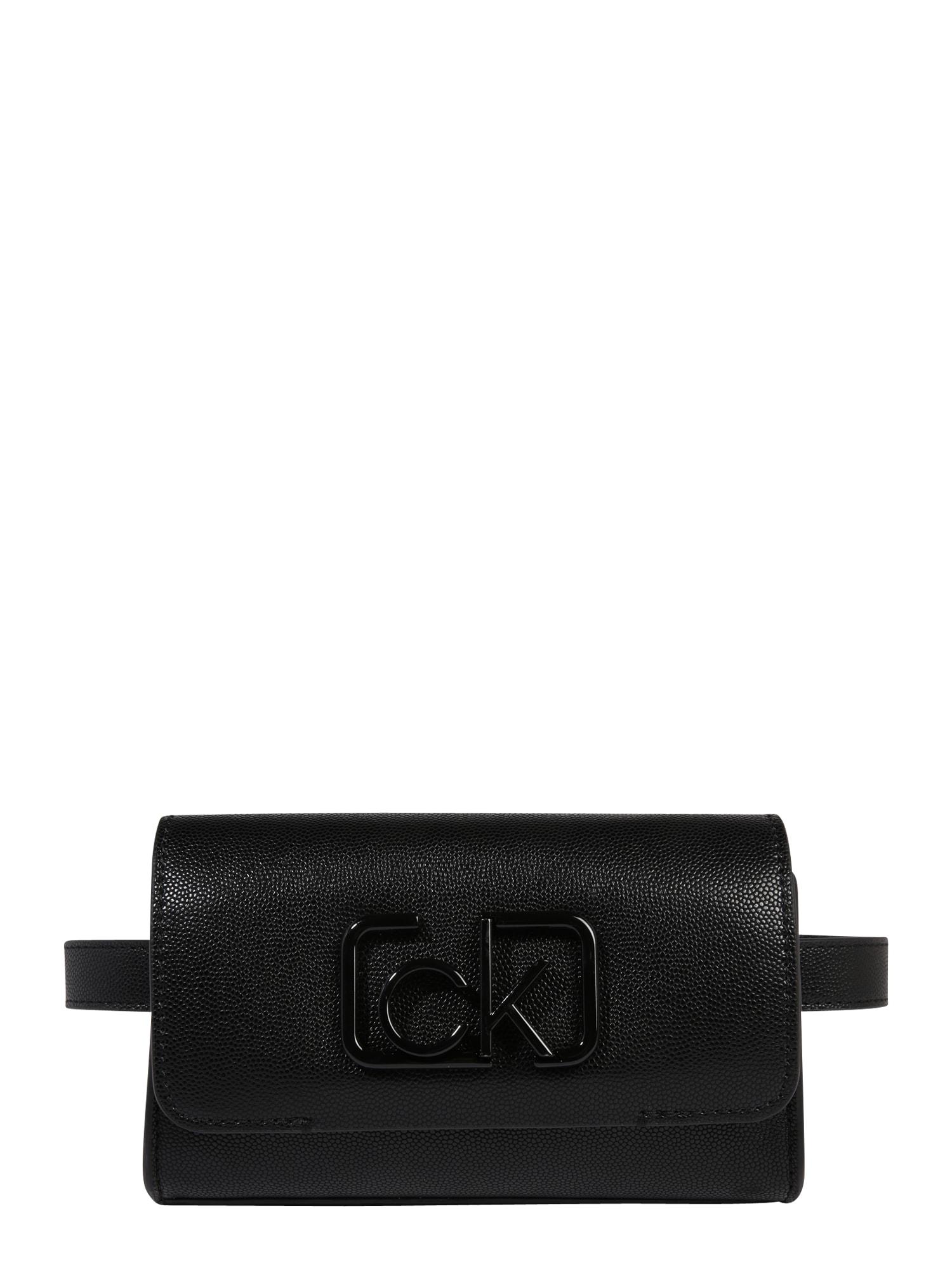 Calvin Klein Rankinė ant juosmens 'SIGNATURE' juoda