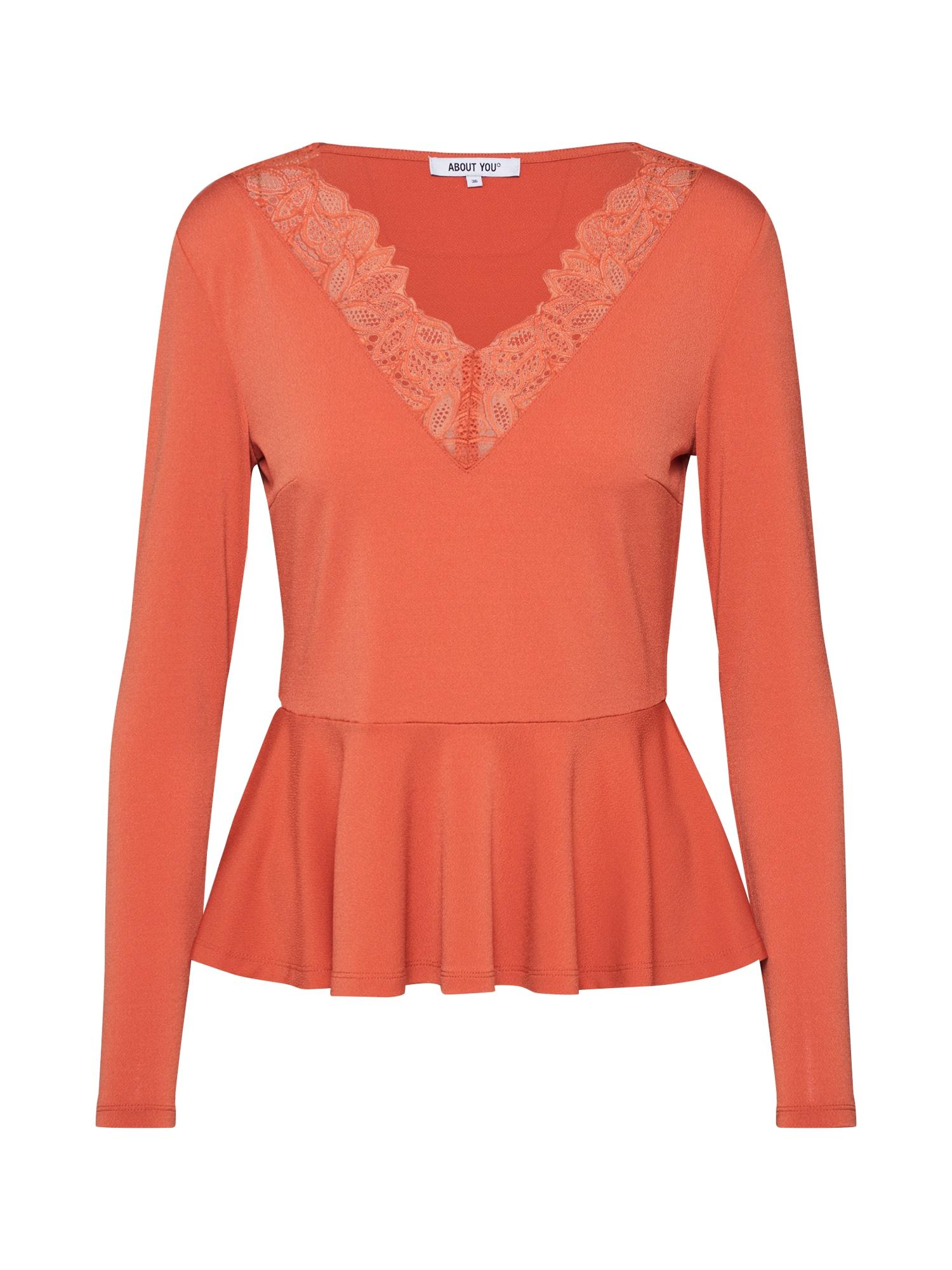 ABOUT YOU Marškinėliai 'Janine' koralų splava