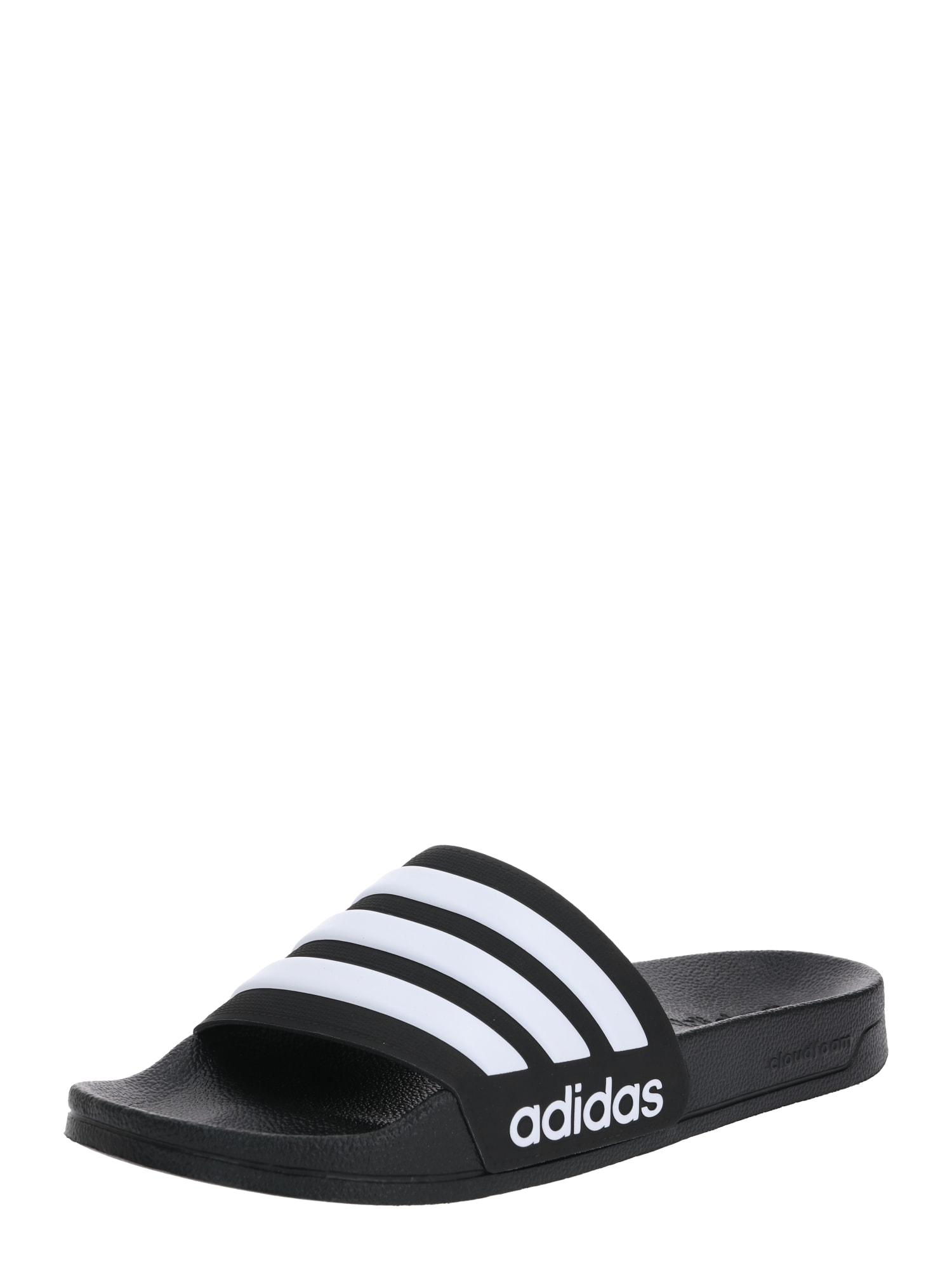 ADIDAS PERFORMANCE Sandalai / maudymosi batai 'Adilette' balta / juoda