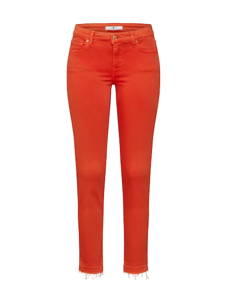 Hosen - Jeans 'PYPER CROP UNROLLED SLIM ILLUSION' › 7 For All Mankind › rot  - Onlineshop ABOUT YOU