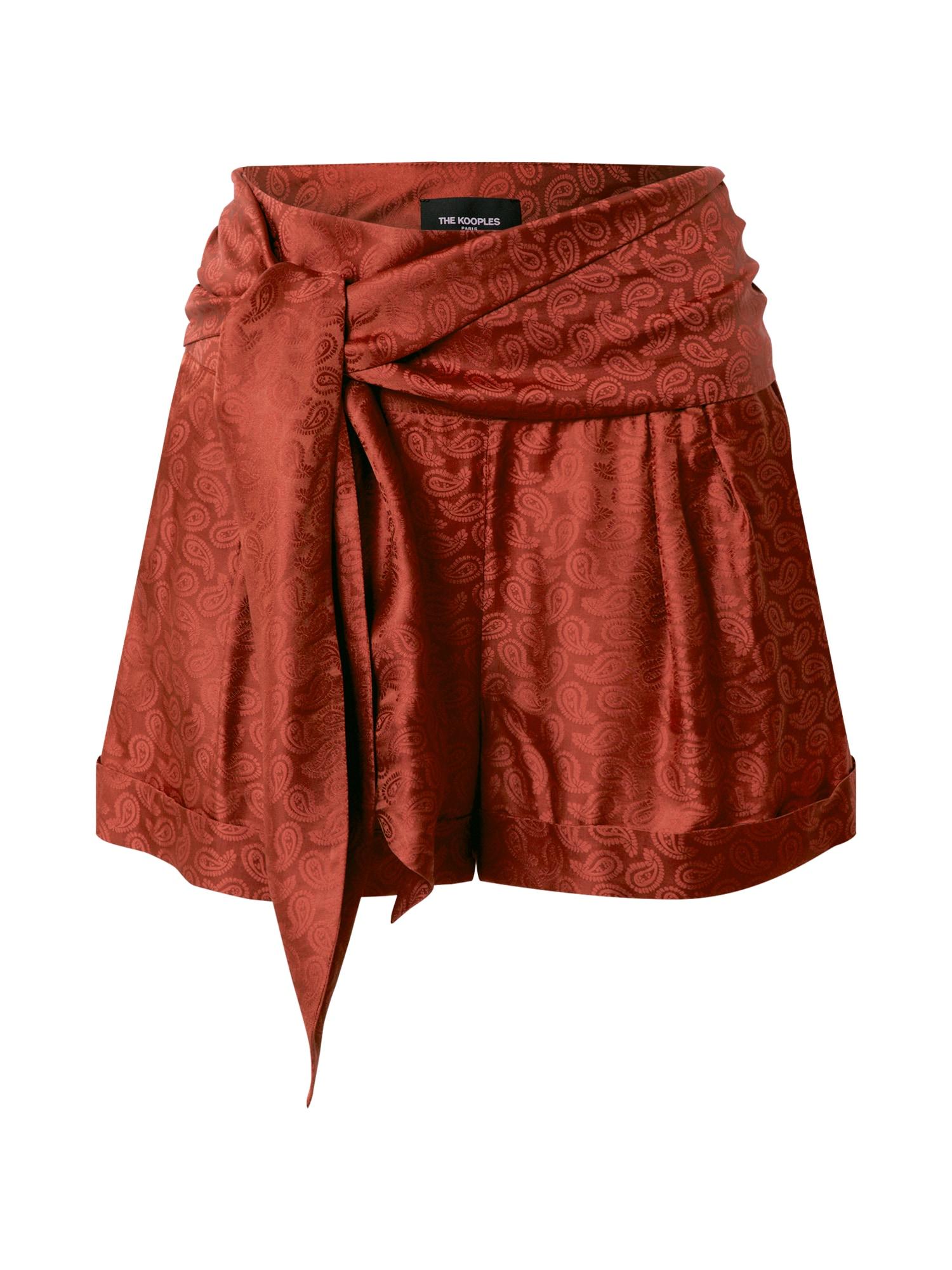 The Kooples Kelnės tamsiai raudona / vyšninė spalva