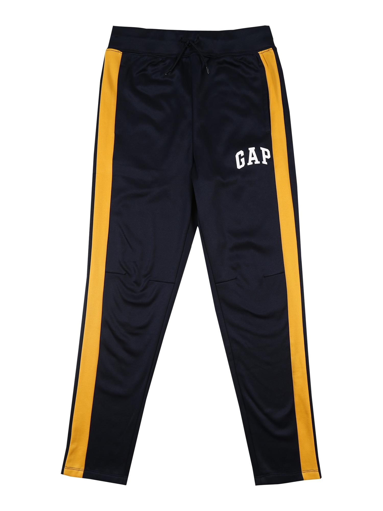 GAP Kalhoty  kobaltová modř / oranžová