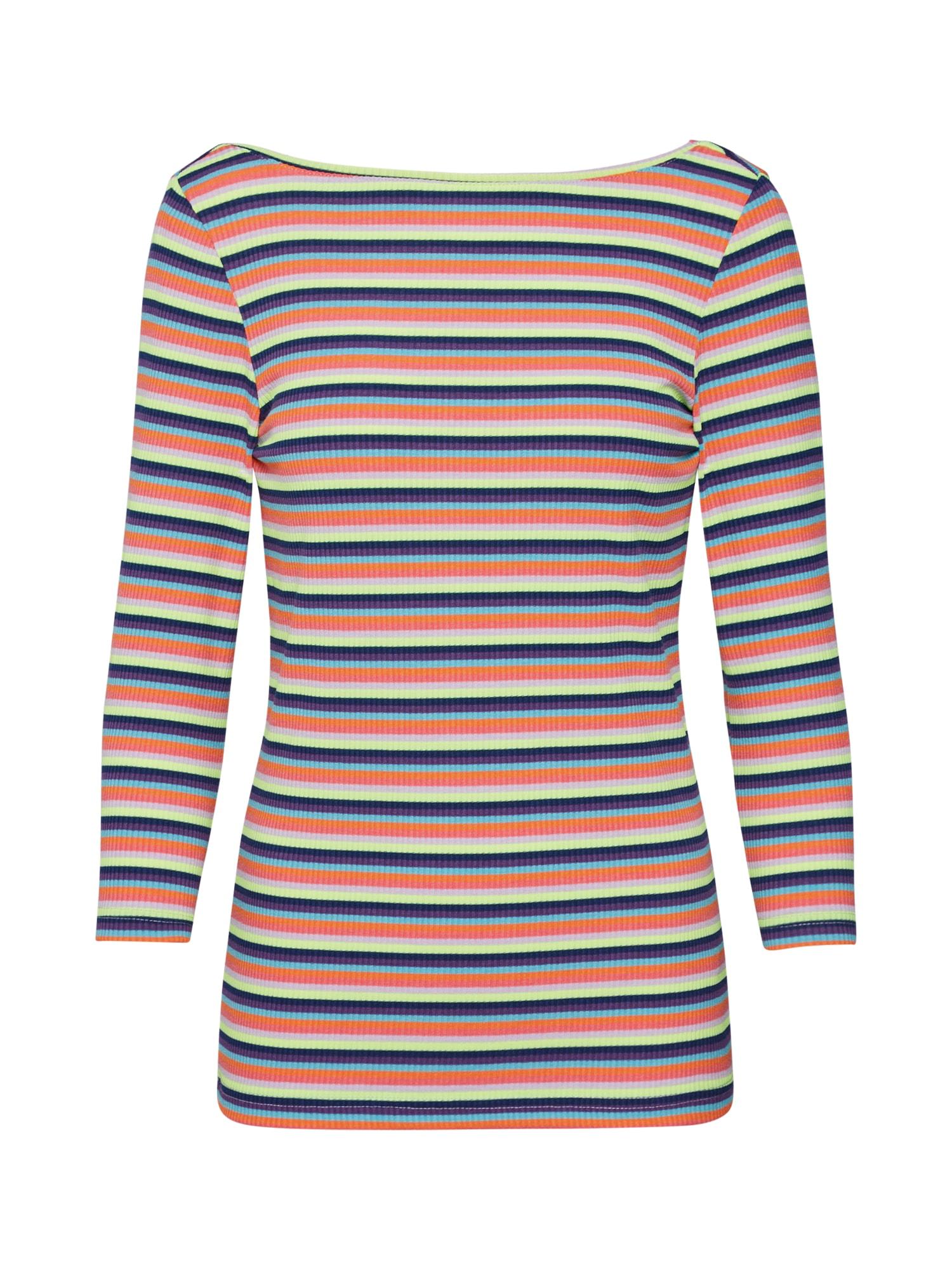 EDC BY ESPRIT Marškinėliai 'Rainbow Rib' mišrios spalvos