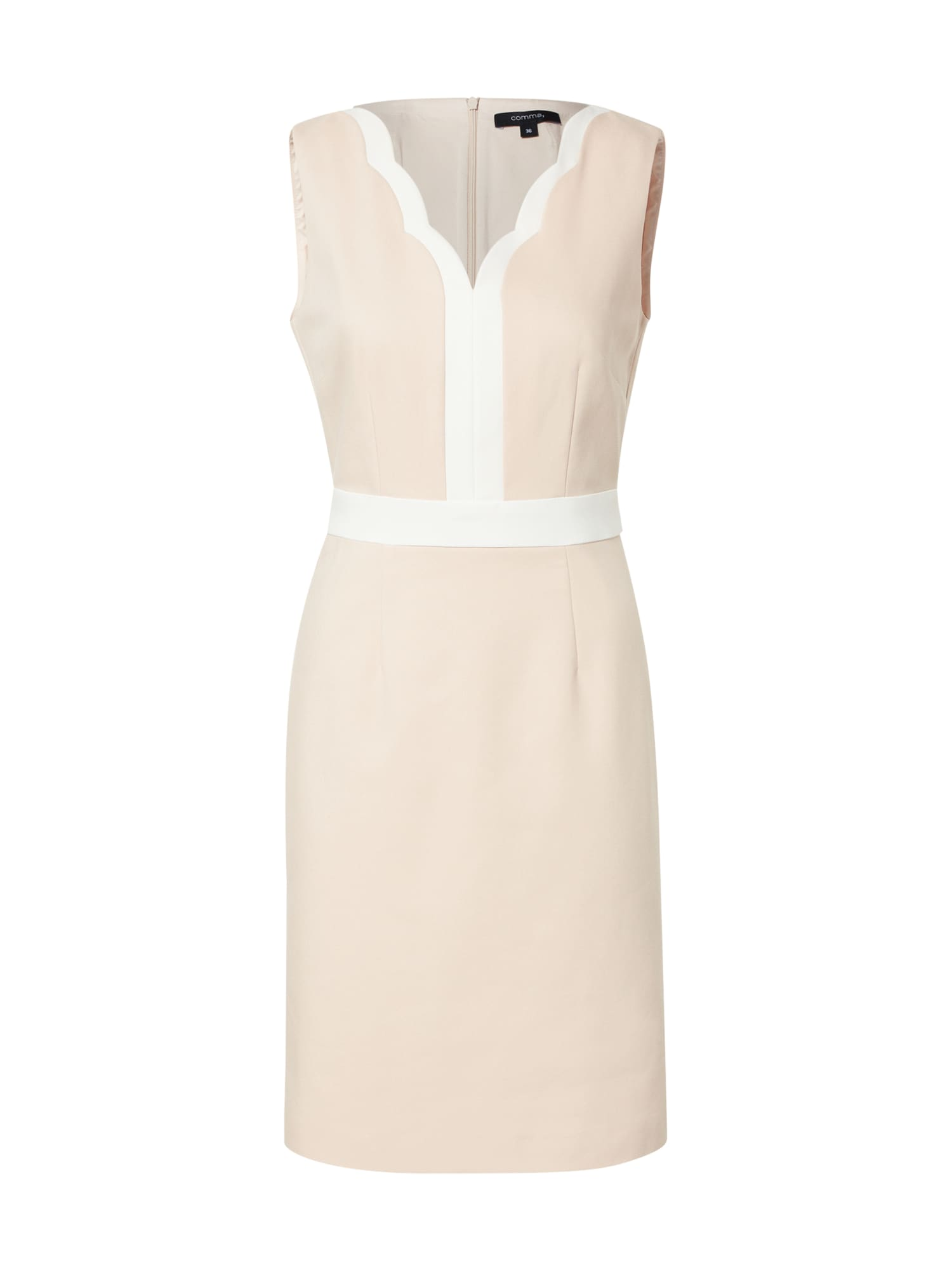 COMMA Trumpa kokteilinė suknelė balta / rožinė