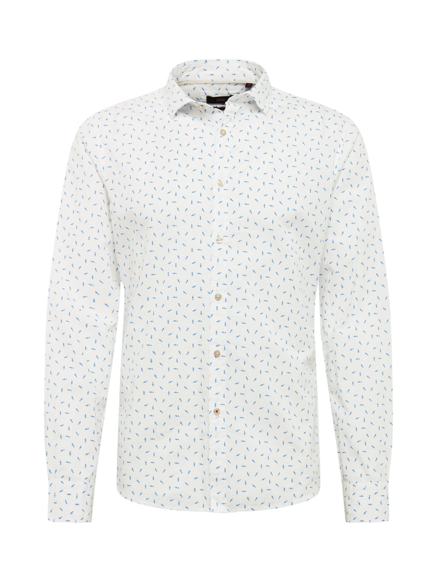 CINQUE Dalykiniai marškiniai 'Cispuky' mėlyna / balta