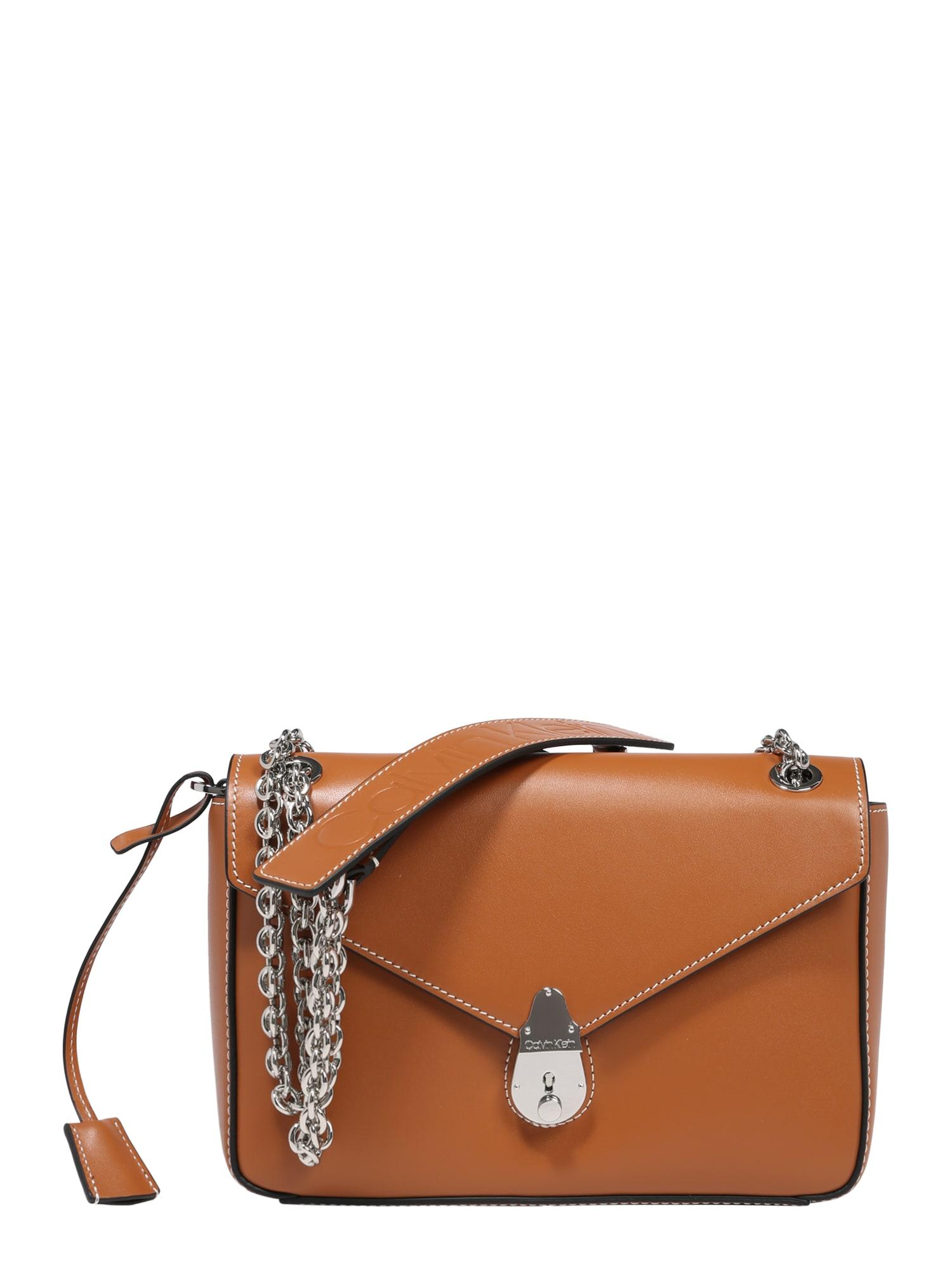 Calvin Klein Rankinė ant peties ruda