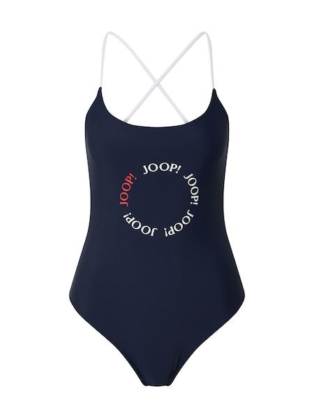 Bademode - Badeanzug 'Linosa' › JOOP! Bodywear › weiß hellblau  - Onlineshop ABOUT YOU