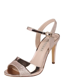BUFFALO Damen Peep Toe mit Glitter gold | 04057324394311