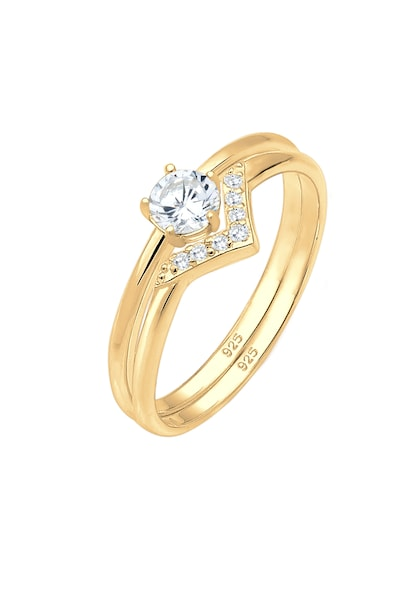 Schmucksets - Ring › ELLI › gold weiß  - Onlineshop ABOUT YOU