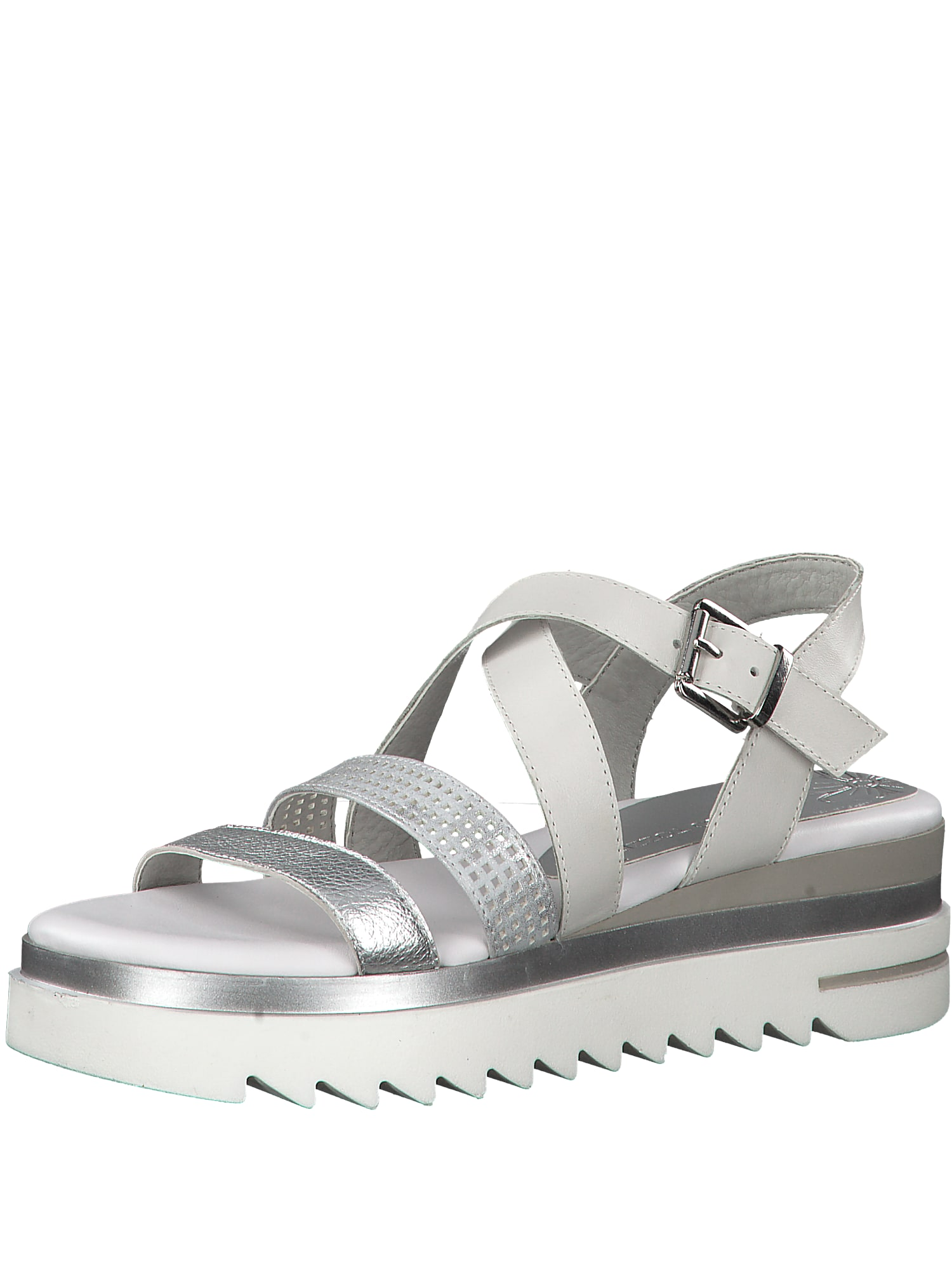 Sandály stříbrná bílá MARCO TOZZI