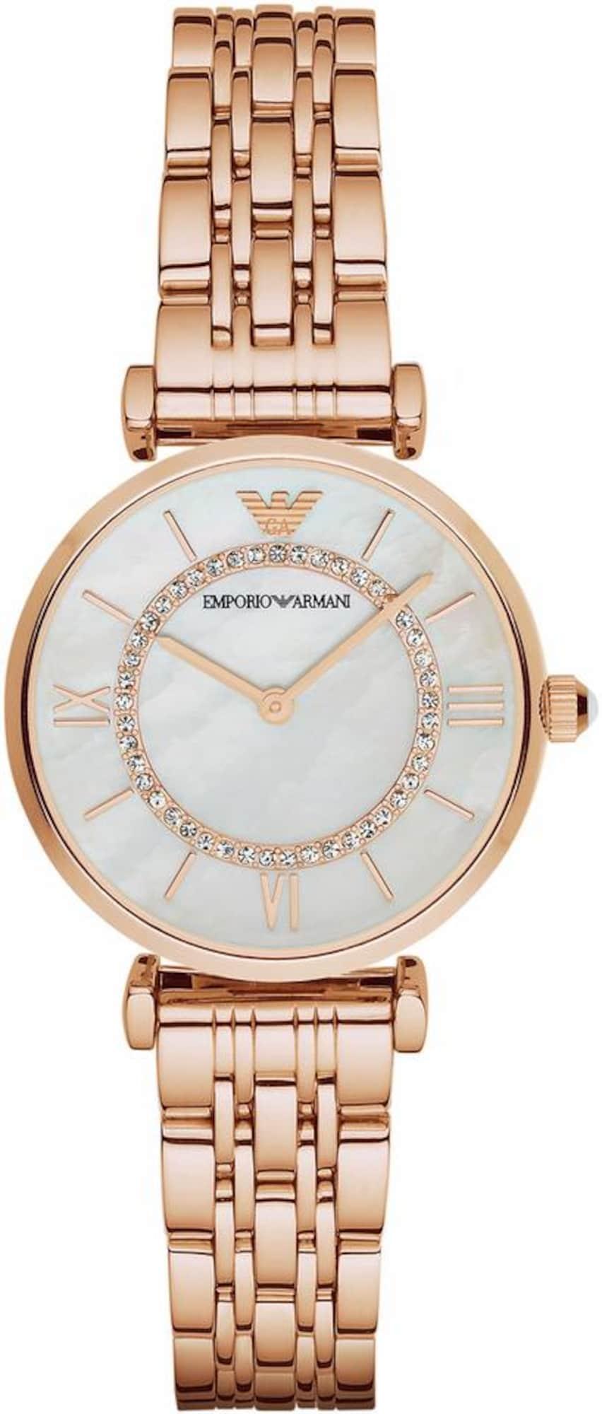 Emporio Armani Analoginis (įprasto dizaino) laikrodis rožinio aukso spalva / perlų balta