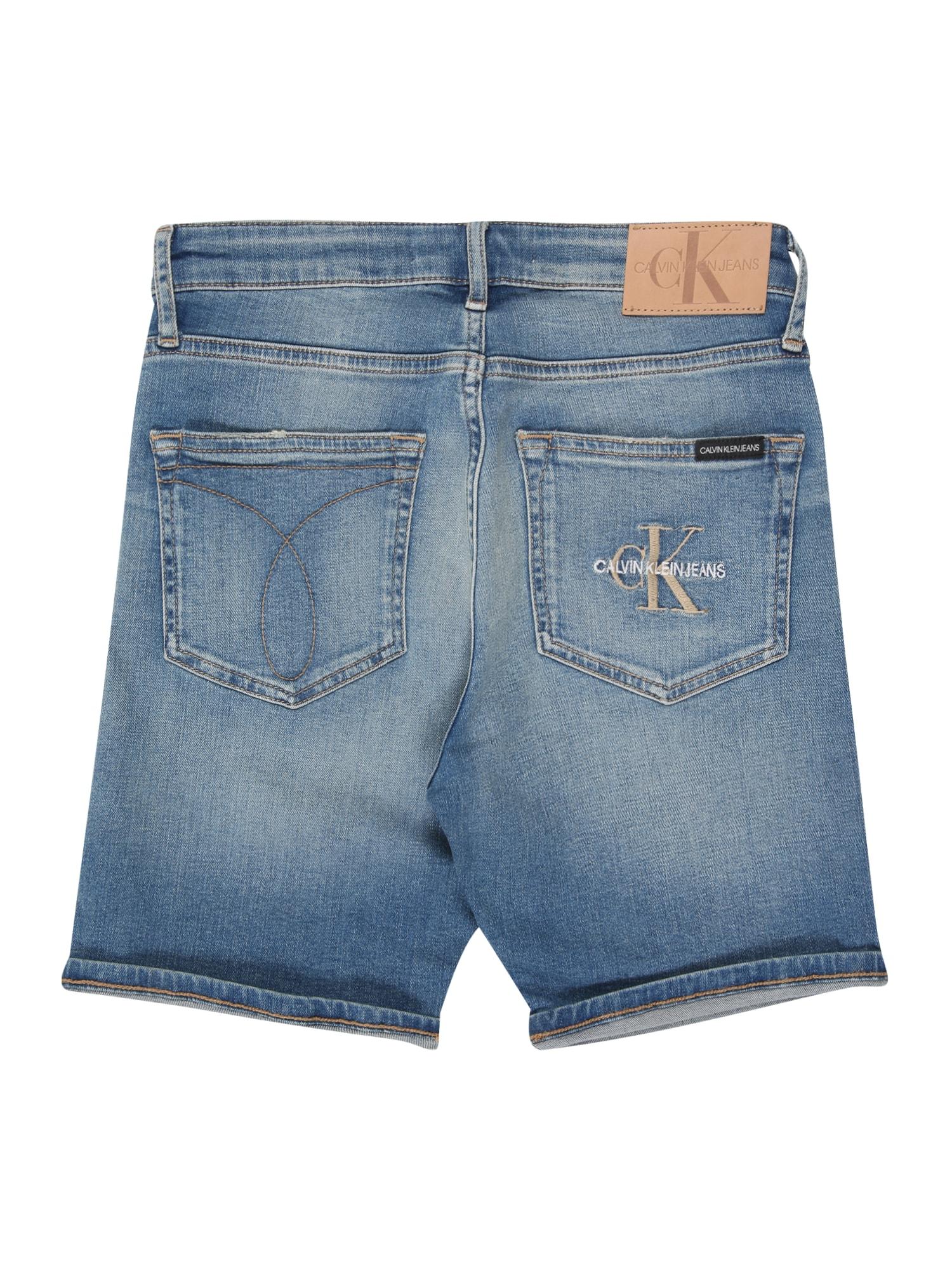 Calvin Klein Jeans Jeans 'TAPERED SHORT MNGR LIGHT BL STR'  blå denim