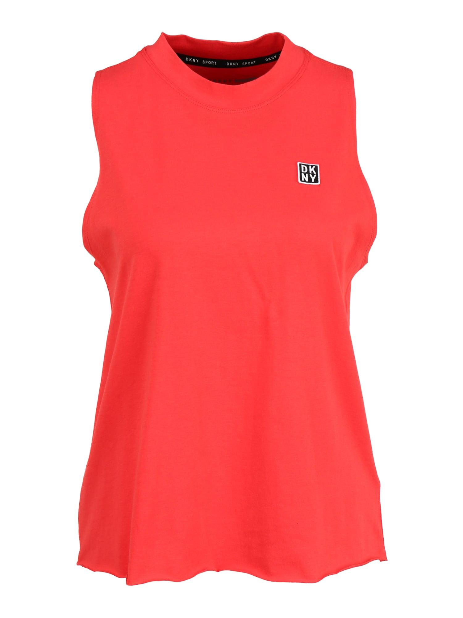 DKNY Sport Sportiniai marškinėliai be rankovių juoda / raudona