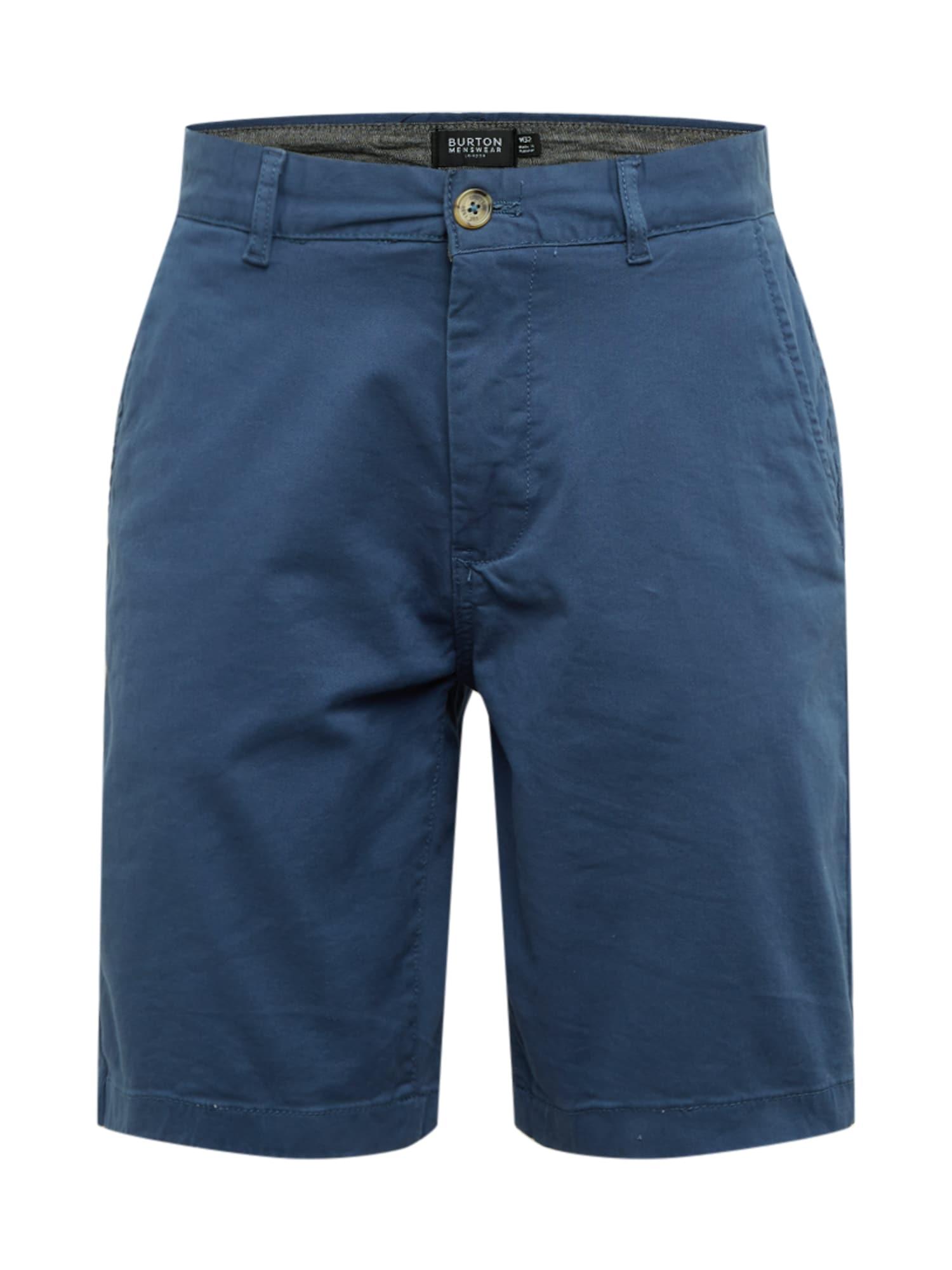 BURTON MENSWEAR LONDON Chino stiliaus kelnės tamsiai (džinso) mėlyna