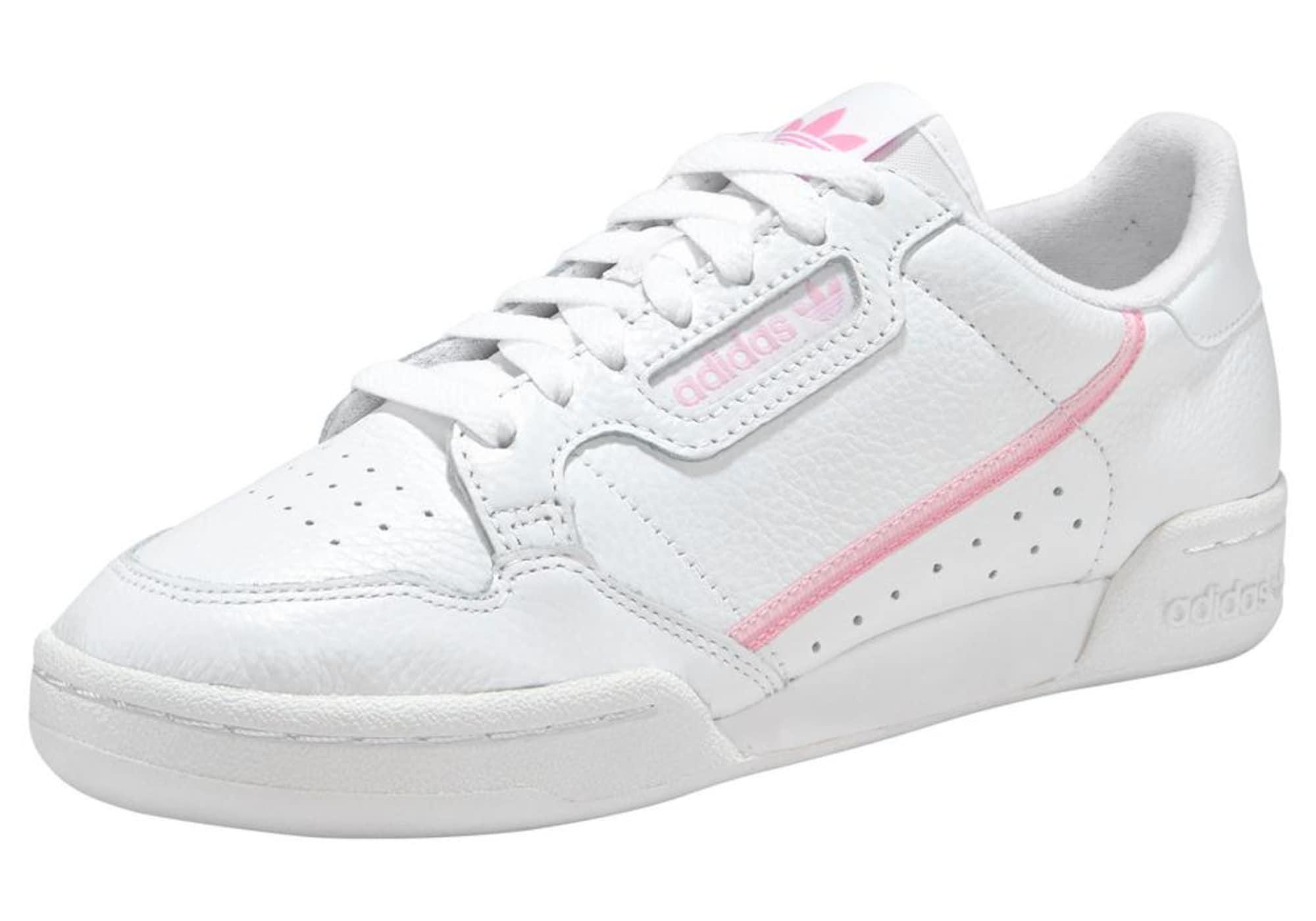 ADIDAS ORIGINALS Sportbačiai be auliuko 'Continental 80' balta / rožių spalva
