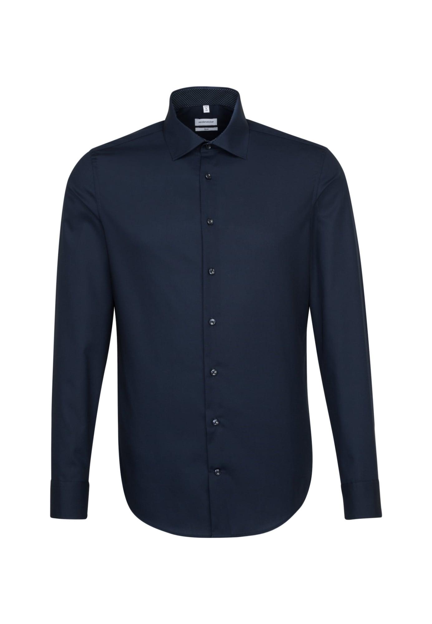 SEIDENSTICKER Dalykinio stiliaus marškiniai nakties mėlyna