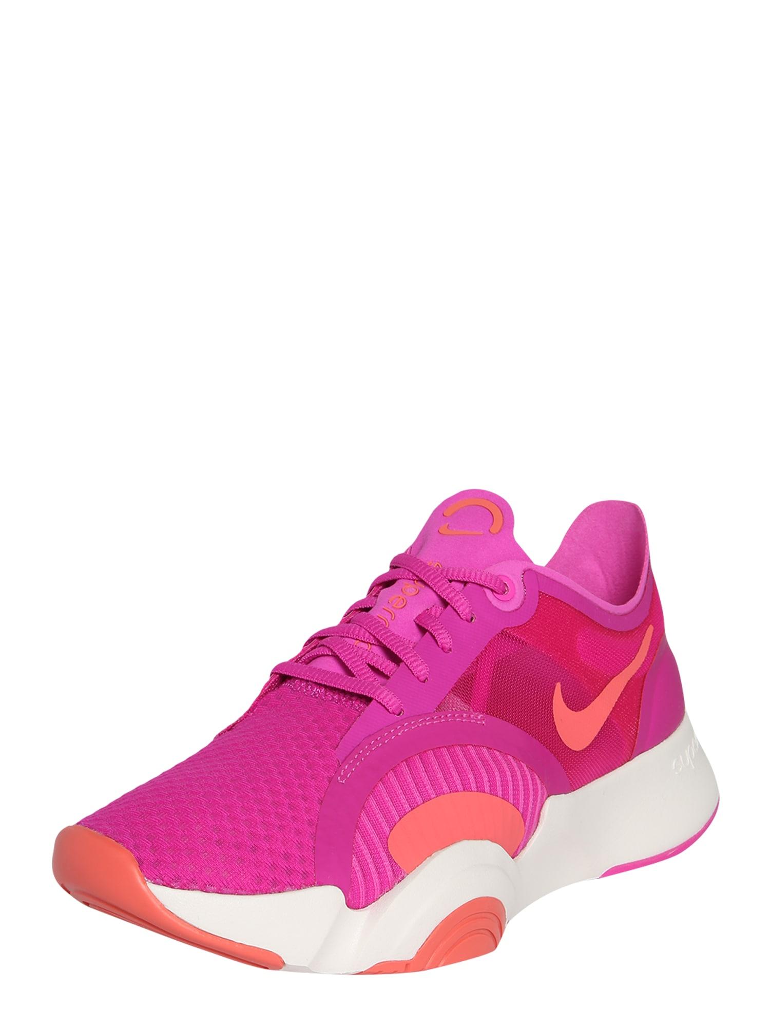 NIKE Sportiniai batai 'SuperRep Go' oranžinė / rožinė