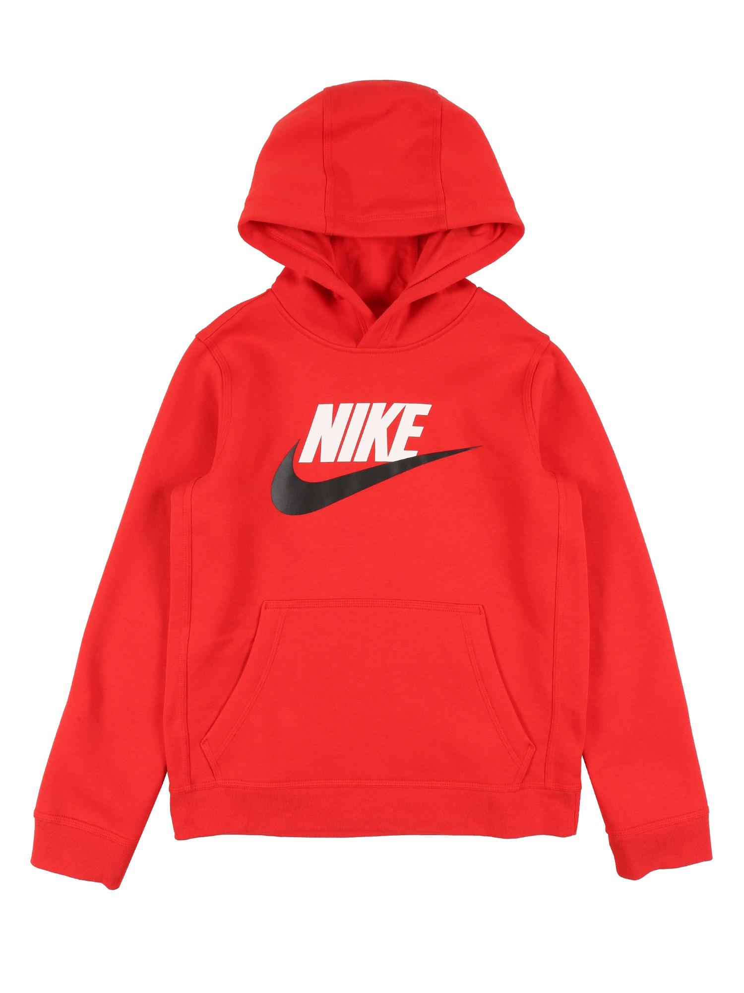Nike Sportswear Mikina 'CLUB'  červené