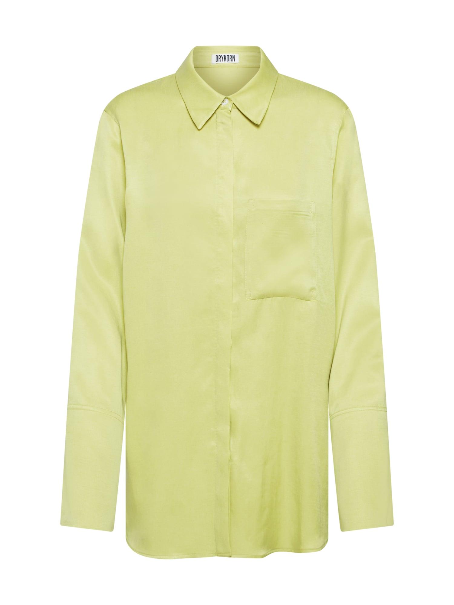 DRYKORN Palaidinė 'CHARLEE' žaliosios citrinos spalva