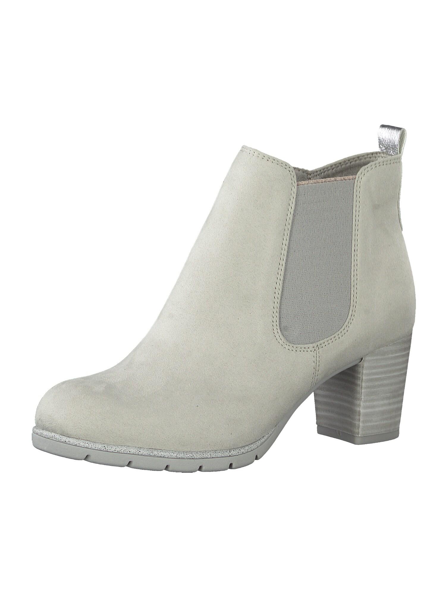 MARCO TOZZI Chelsea boty  šedá