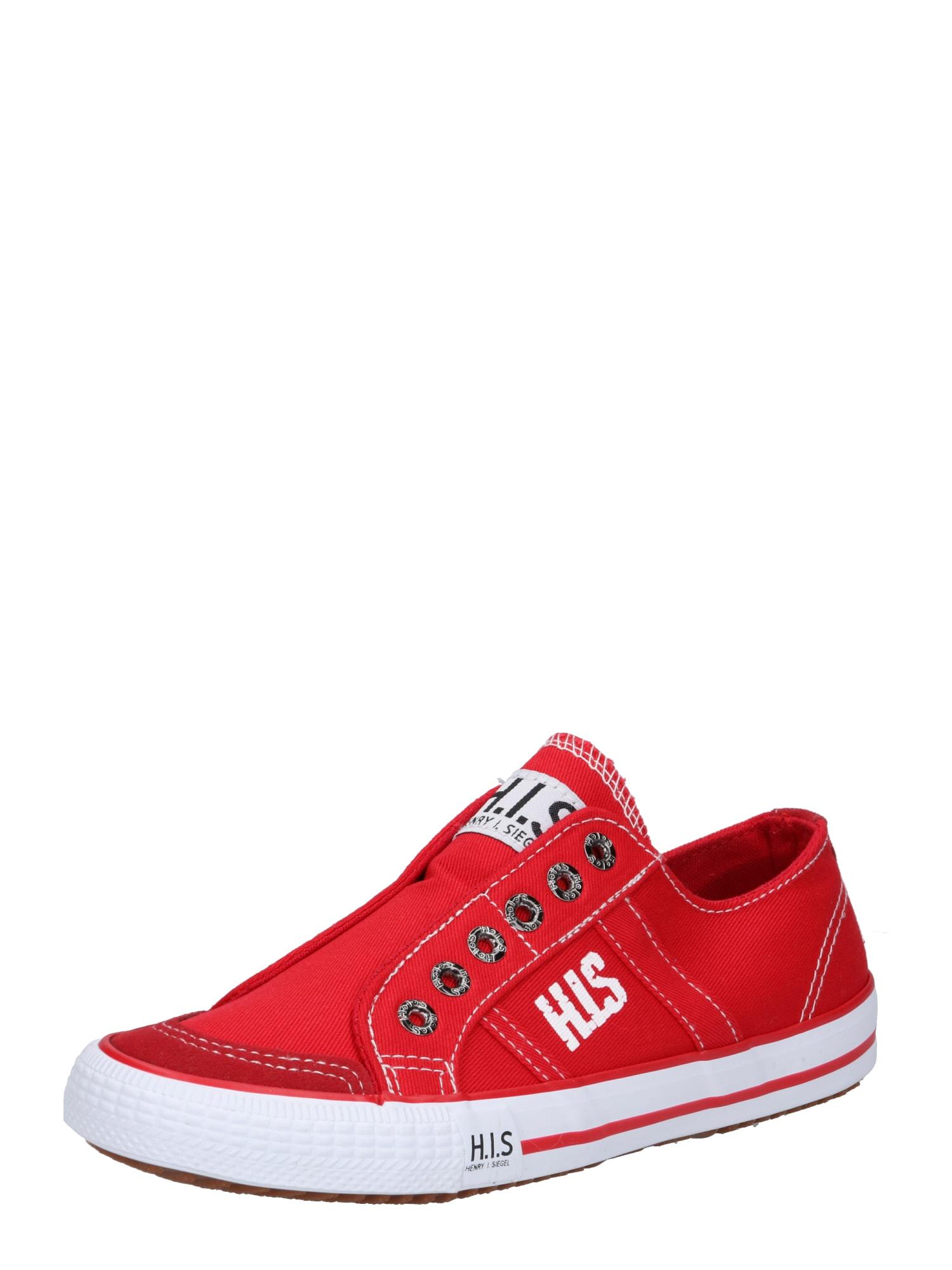 Tenisky ohnivá červená bílá H.I.S