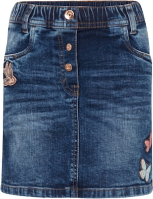 TOM TAILOR Rok 'cute denim skirt with badges'