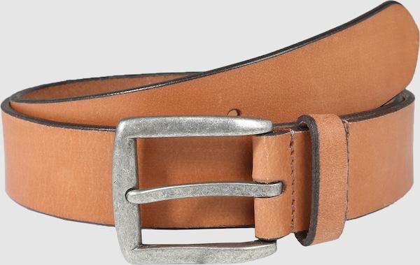 Pieces Nady Leder-Jeansgürtel mit quadratischer Schnalle