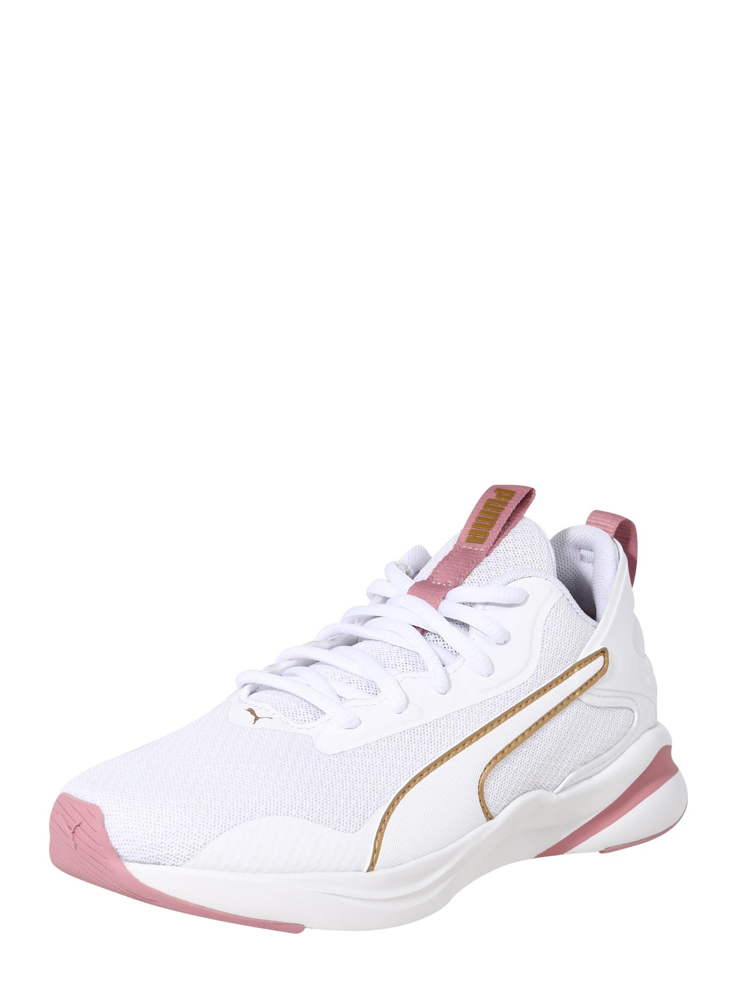 PUMA Sportovní boty  růže / bílá / světle hnědá