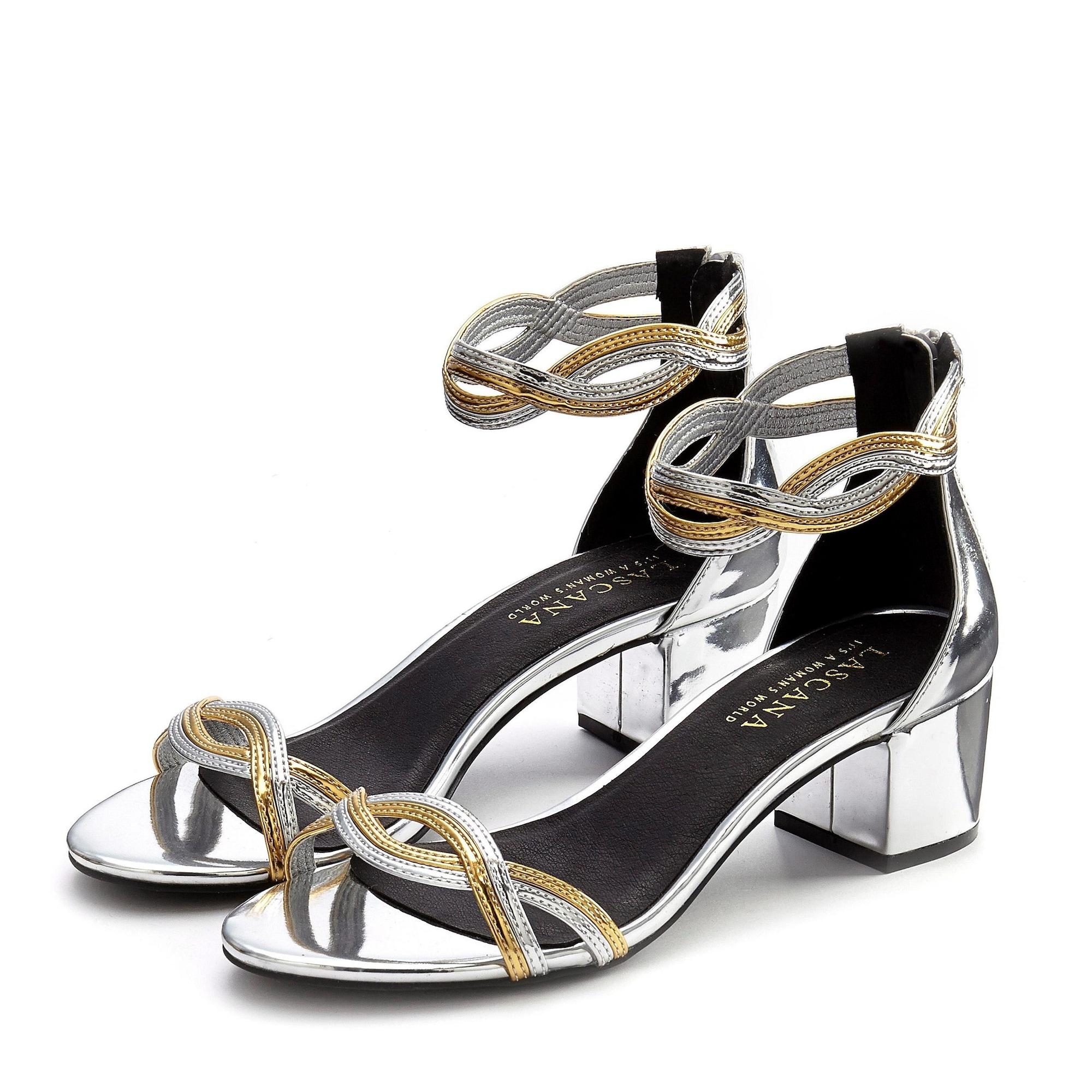 LASCANA Sandále  zlatá / strieborná