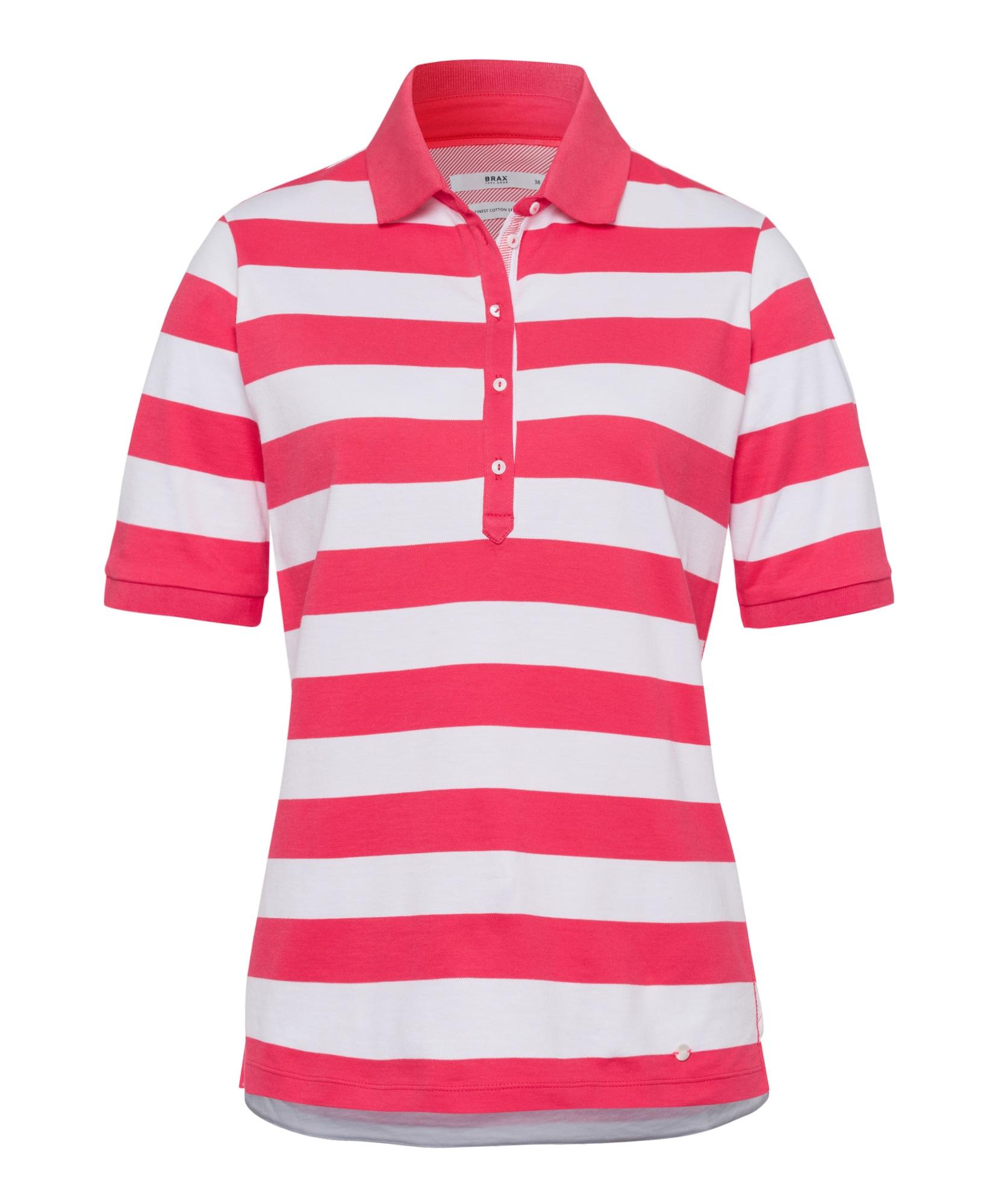 BRAX Marškinėliai 'Cleo' neoninė rožinė / balta
