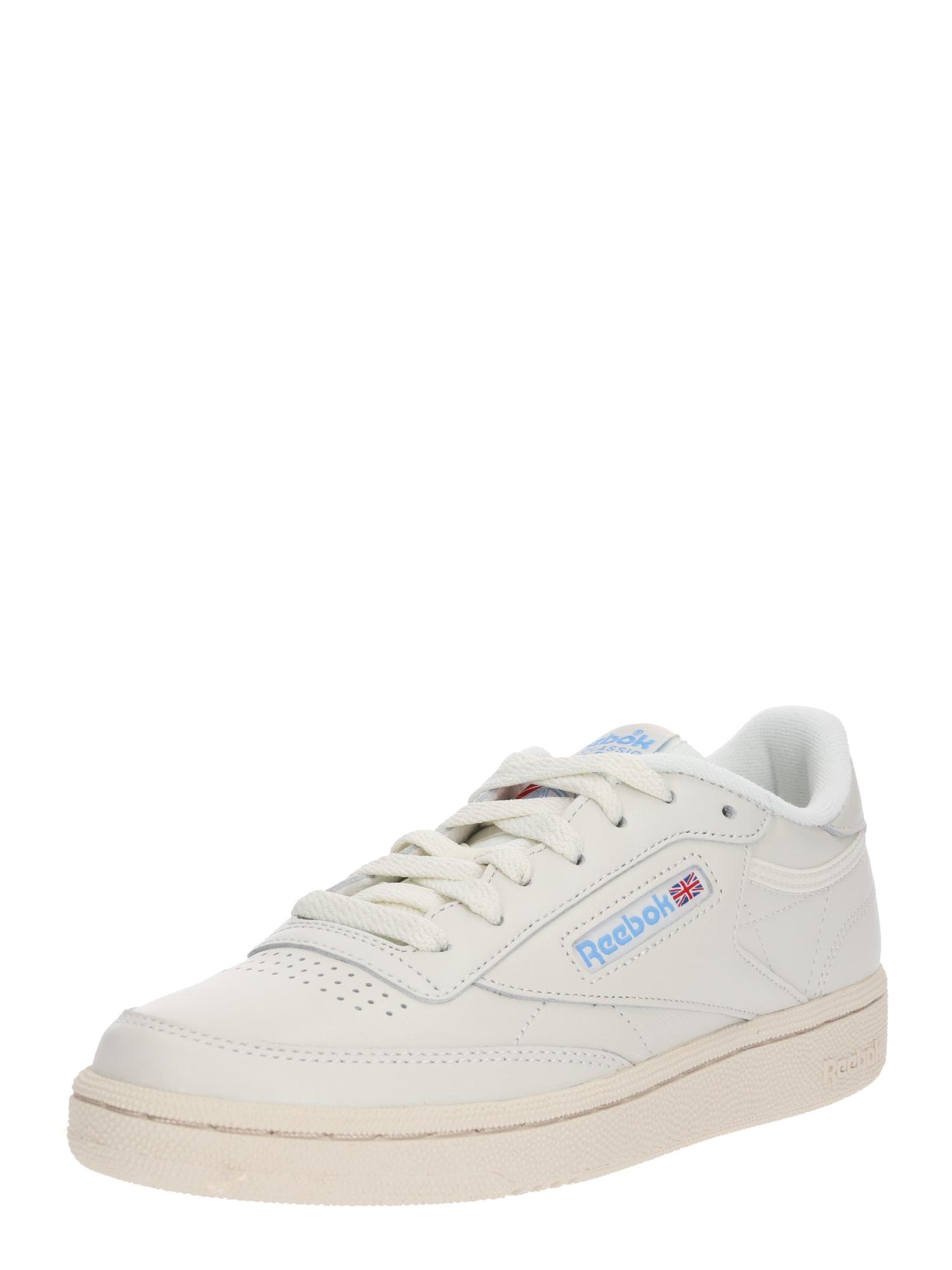 Reebok Classic Sportiniai batai 'CLUB C 85' balkšva / šviesiai mėlyna