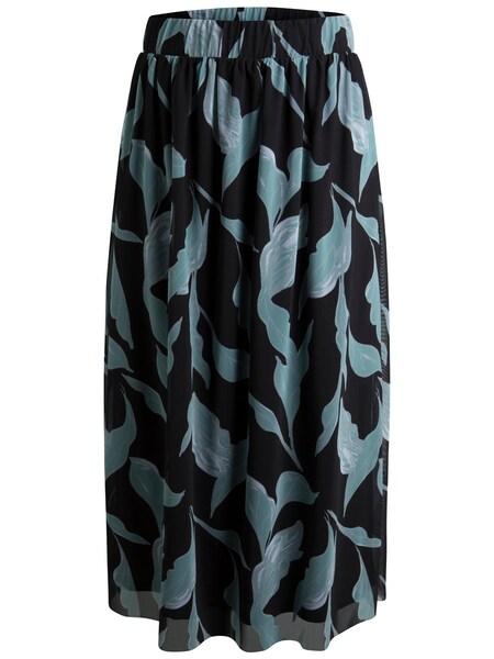 Roecke für Frauen - PIECES Midi Rock pastellblau schwarz  - Onlineshop ABOUT YOU