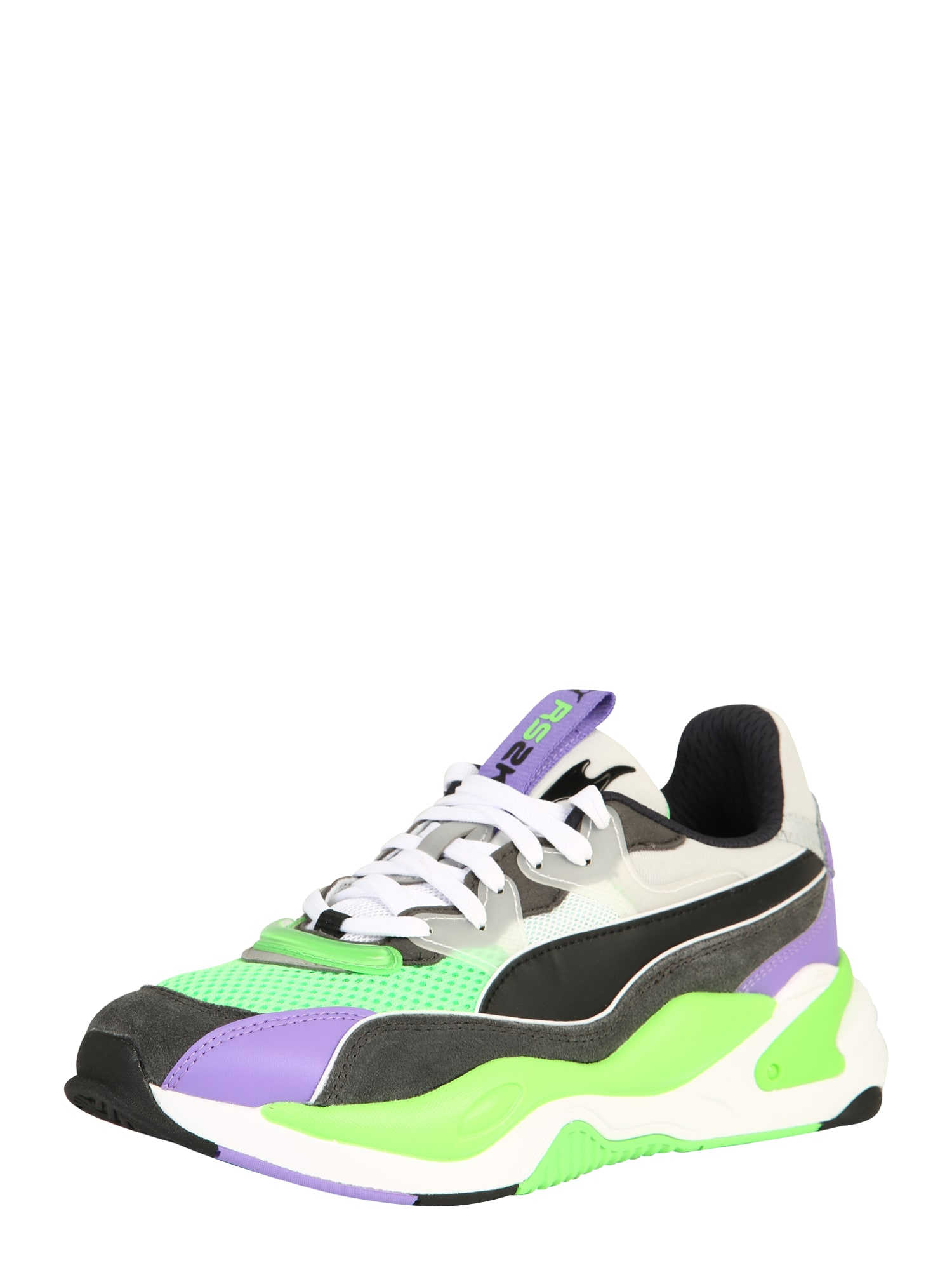 PUMA Nízke tenisky  fialová / neónovo zelená / čierna / svetlosivá