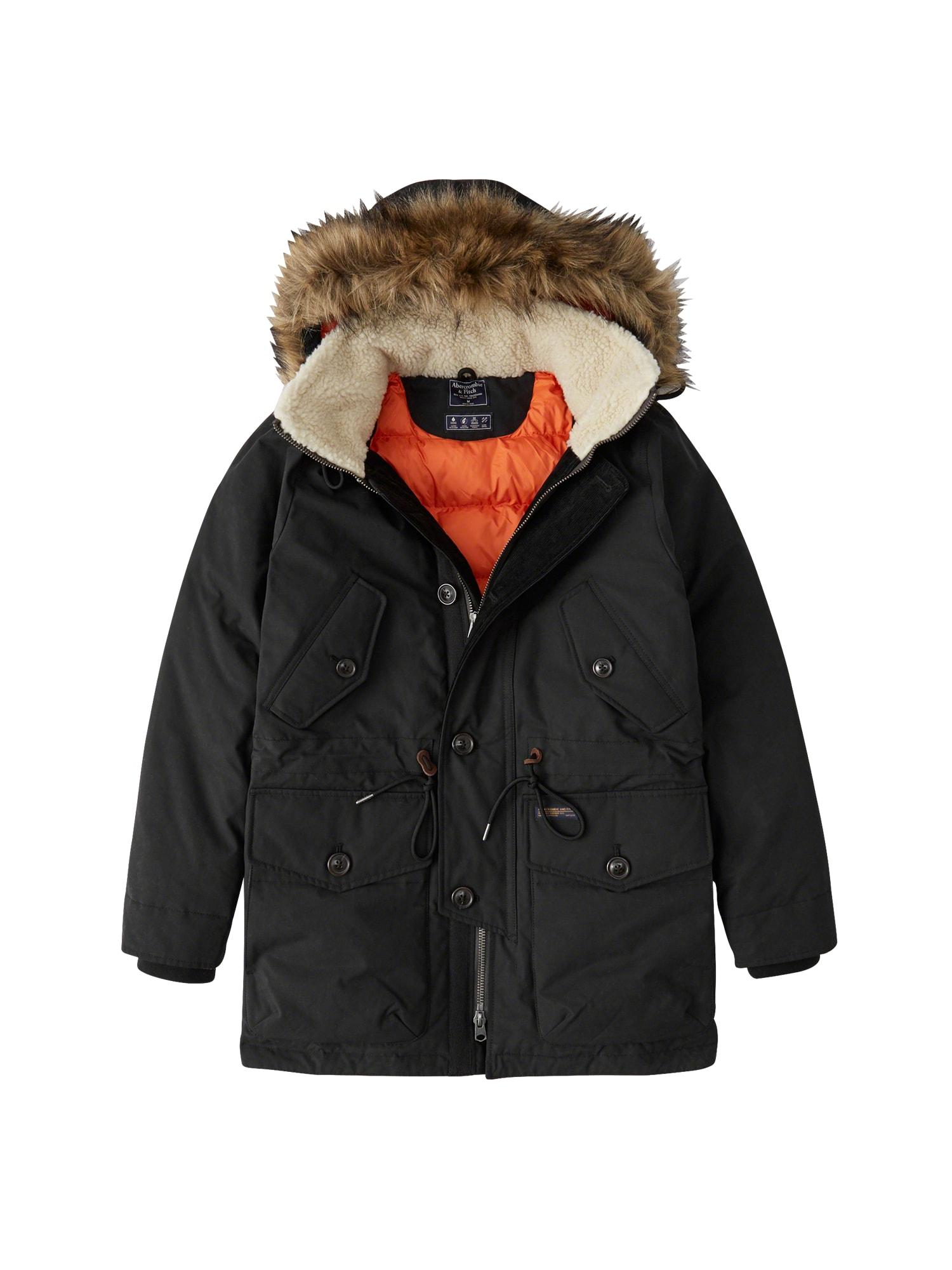 Abercrombie & Fitch Ilga žieminė striukė 'EXPEDITION PARKA 4CC' juoda
