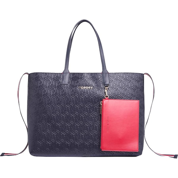 Shopper - Shopper »Iconic tommy tote« › Tommy Hilfiger › navy rot weiß  - Onlineshop ABOUT YOU